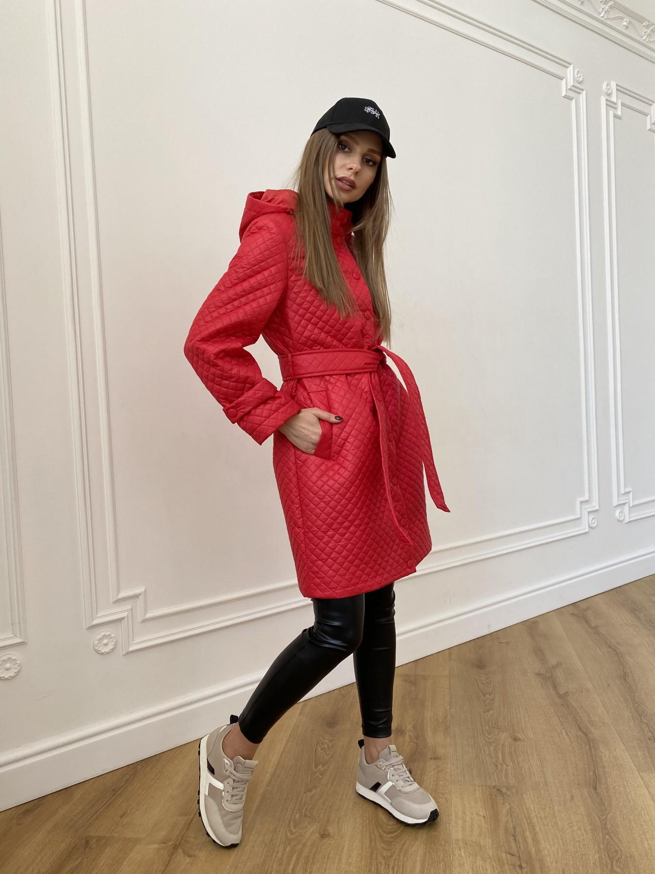 Виза стеганая куртка в мелкую стежку из плащевой ткани 11017 АРТ. 47626 Цвет: Красный - фото 6, интернет магазин tm-modus.ru