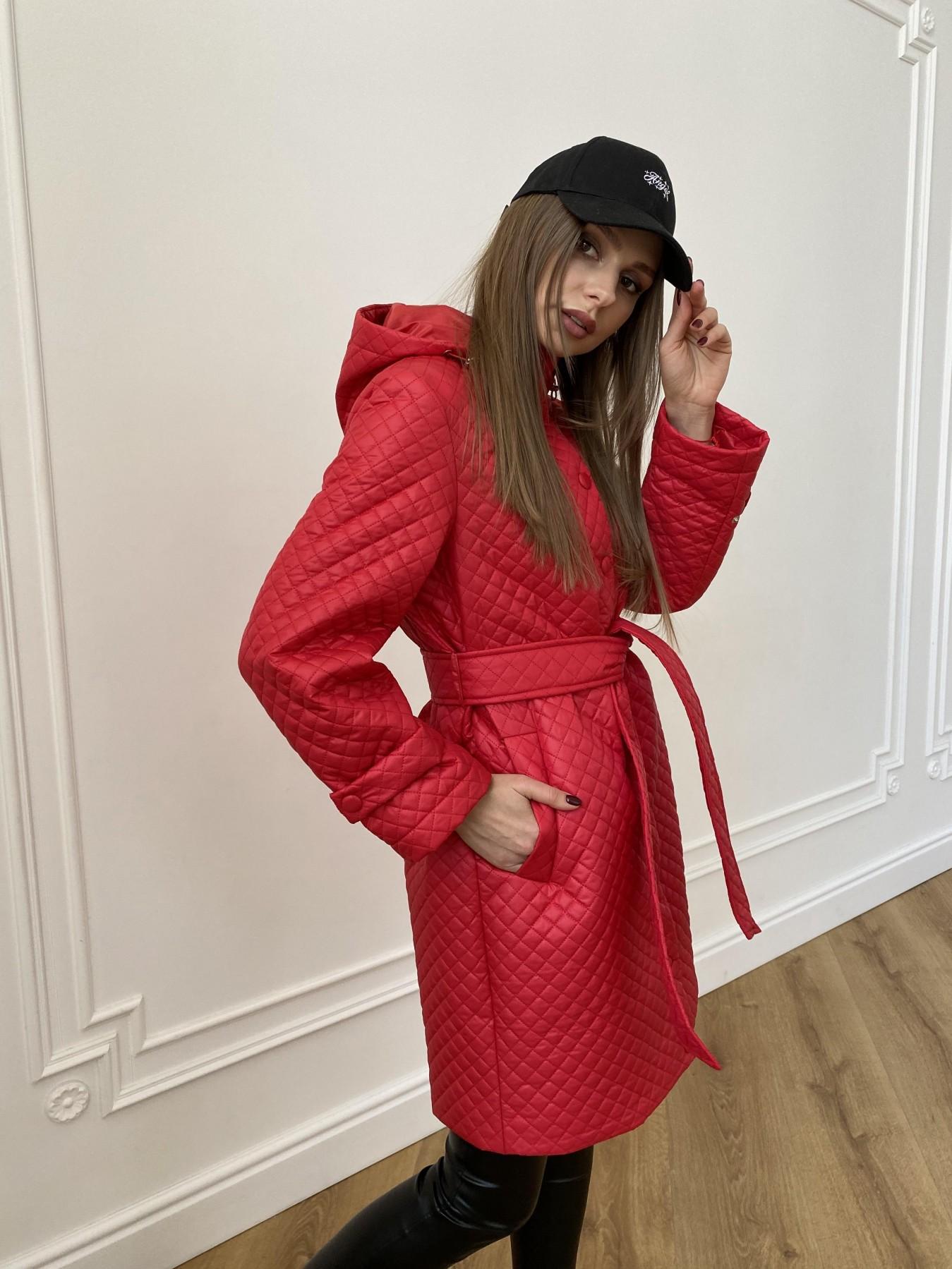 Виза стеганая куртка в мелкую стежку из плащевой ткани 11017 АРТ. 47626 Цвет: Красный - фото 7, интернет магазин tm-modus.ru