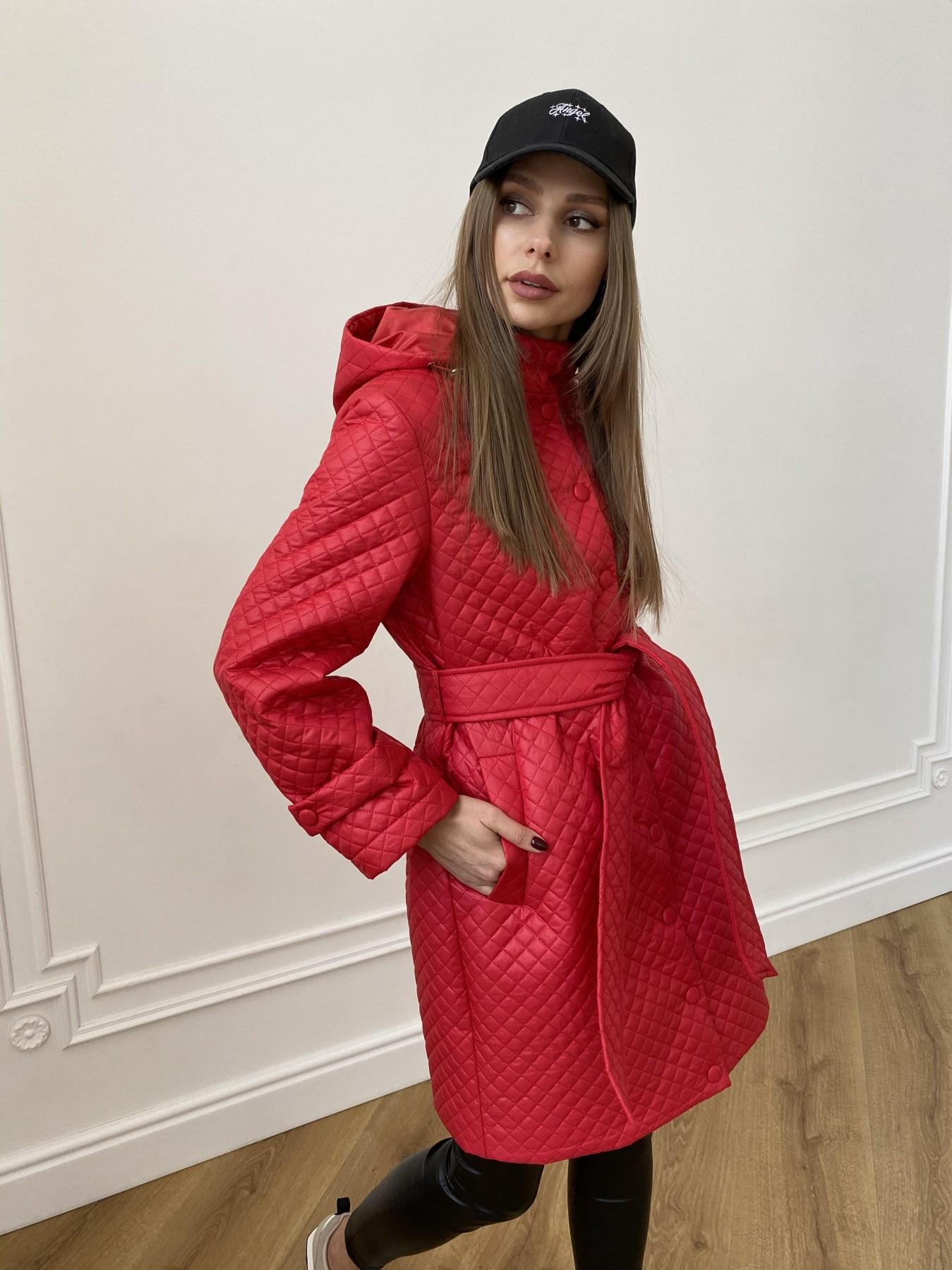 Виза стеганая куртка в мелкую стежку из плащевой ткани 11017 АРТ. 47626 Цвет: Красный - фото 8, интернет магазин tm-modus.ru