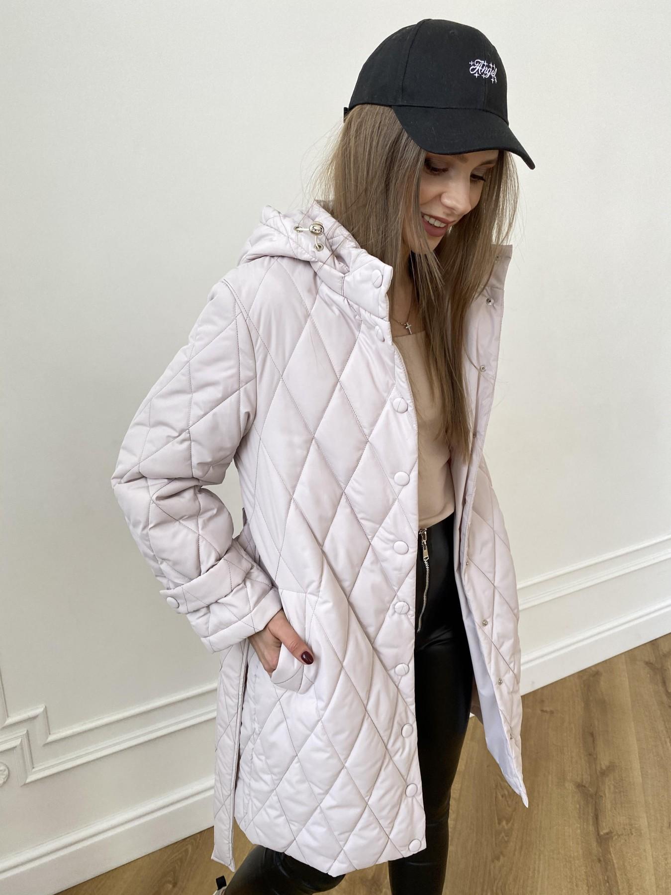 Виза стеганая куртка из плащевой ткани 11015 АРТ. 47540 Цвет: Бежевый 970 - фото 6, интернет магазин tm-modus.ru