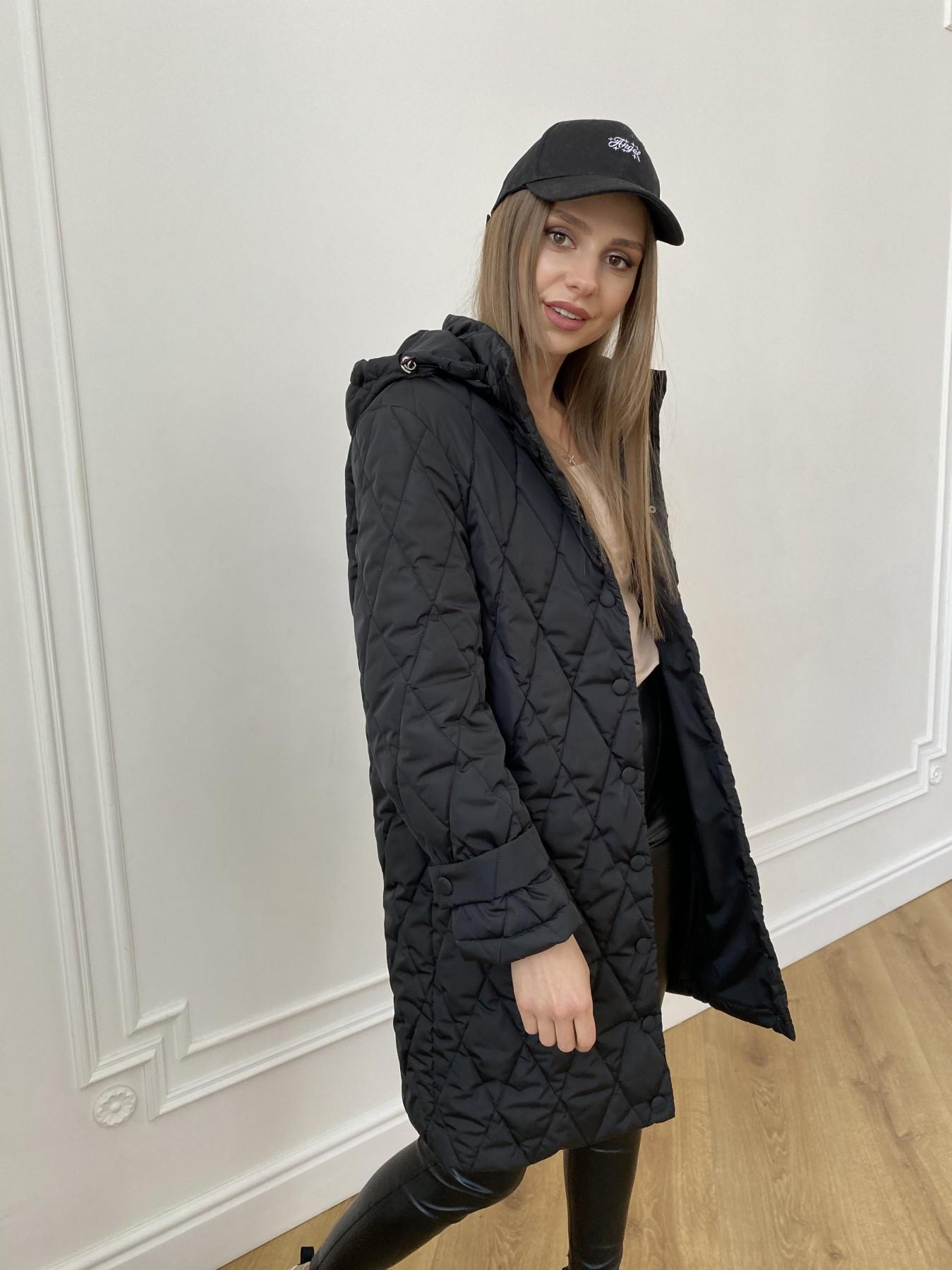 Виза стеганая куртка из плащевой ткани 11015 АРТ. 47569 Цвет: Черный - фото 3, интернет магазин tm-modus.ru