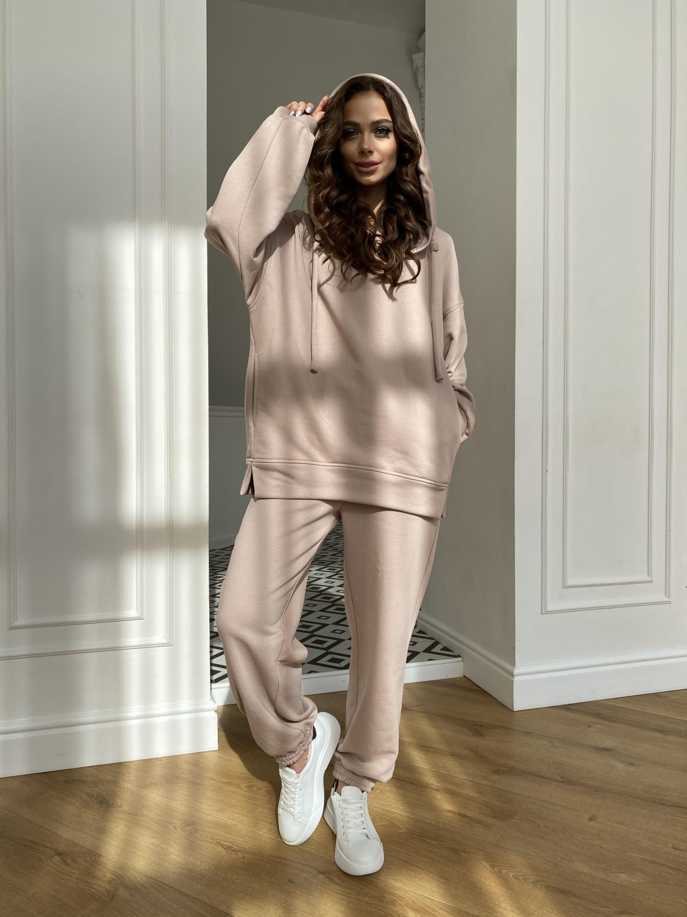 Ярис костюм из 3х нитки 10789 АРТ. 47615 Цвет: Бежевый Темный - фото 9, интернет магазин tm-modus.ru