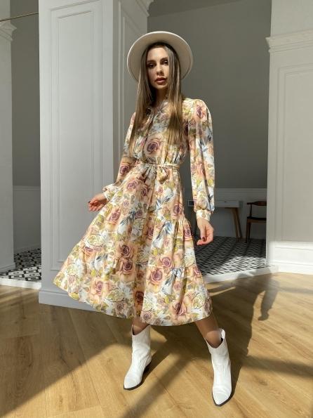 Лилия софт принт бистрейч платье 11171