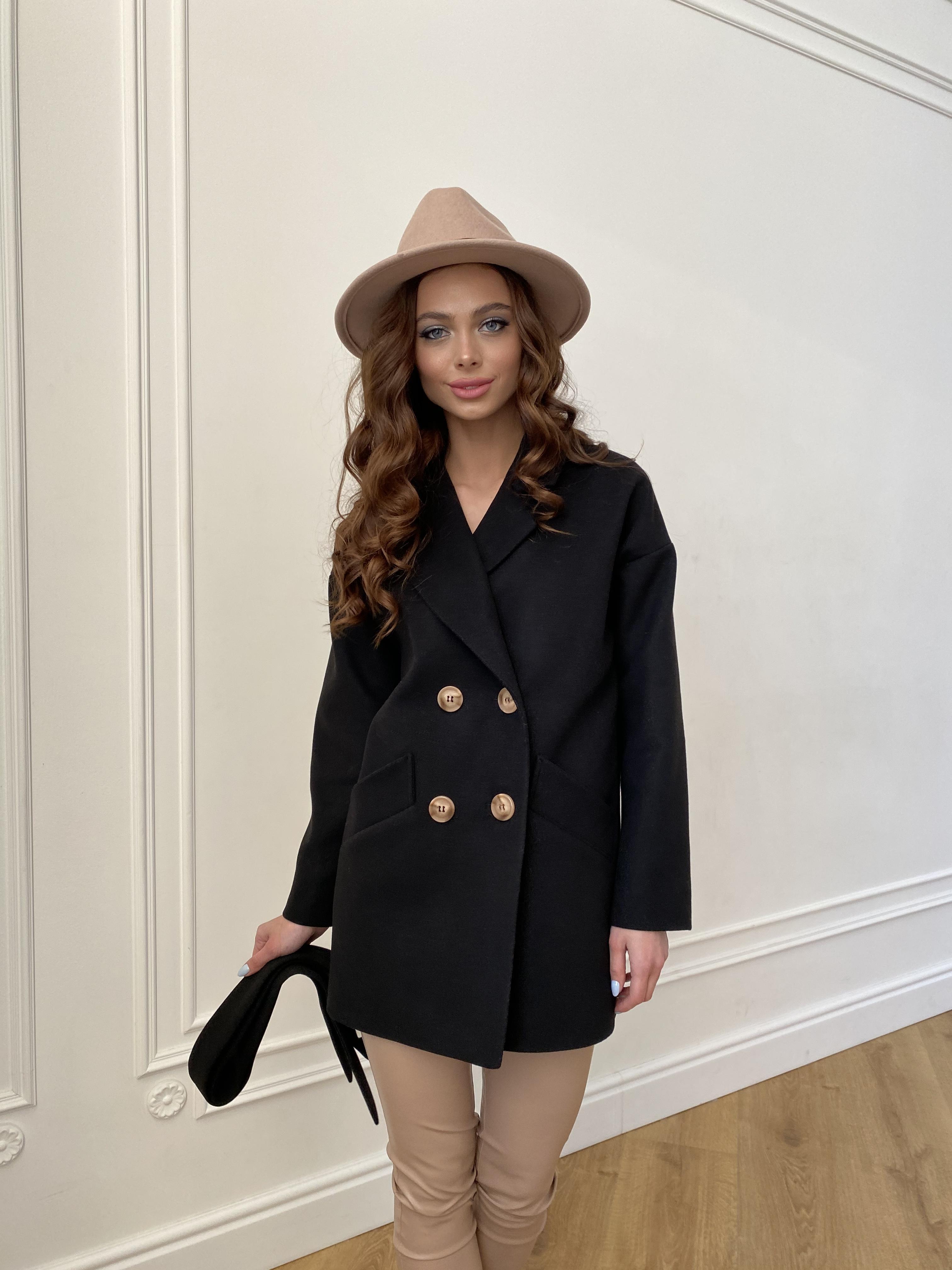 Бонд пальто из гладкого кашемира 10900 АРТ. 47367 Цвет: Черный - фото 3, интернет магазин tm-modus.ru
