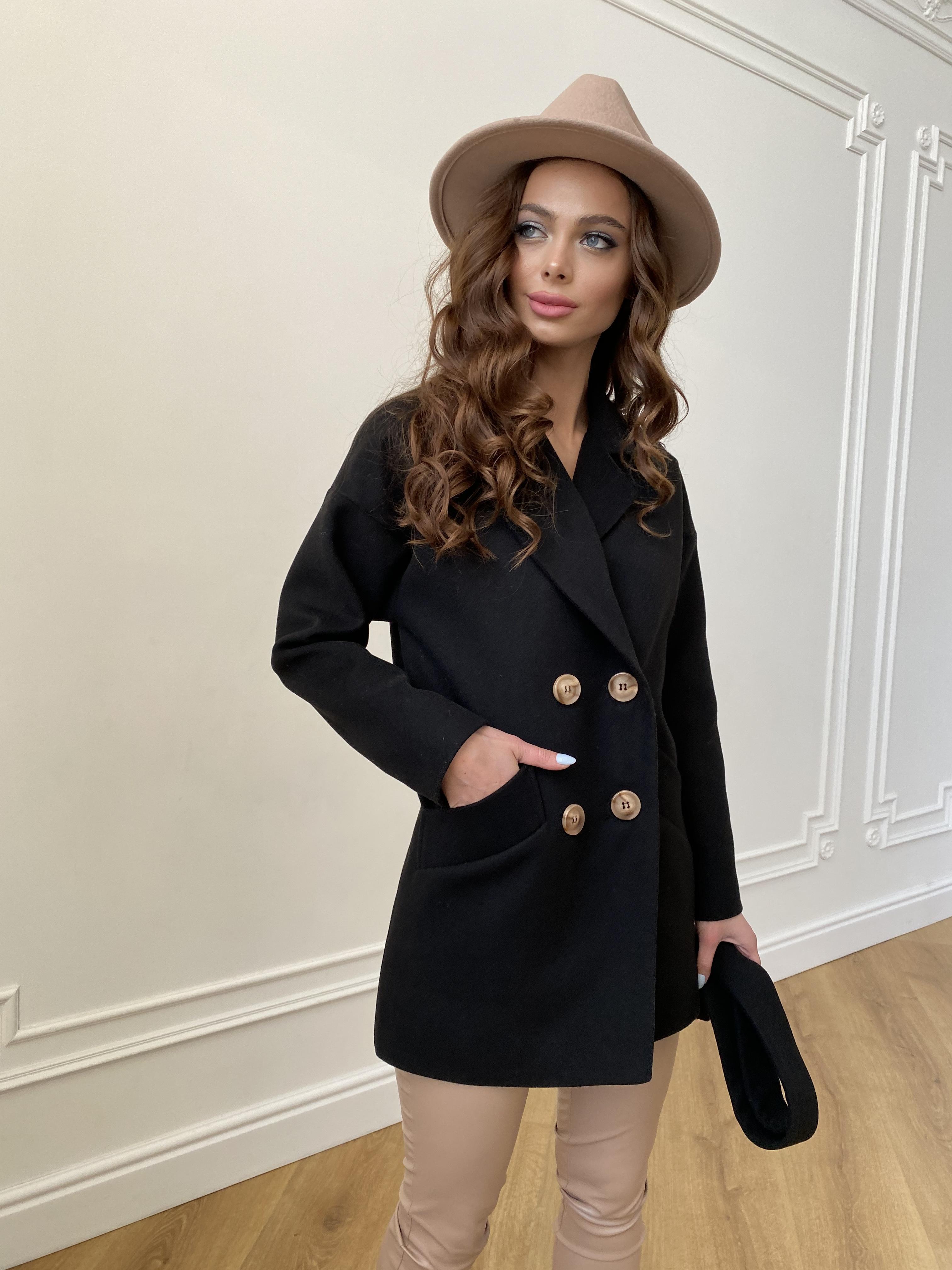 Бонд пальто из гладкого кашемира 10900 АРТ. 47367 Цвет: Черный - фото 6, интернет магазин tm-modus.ru