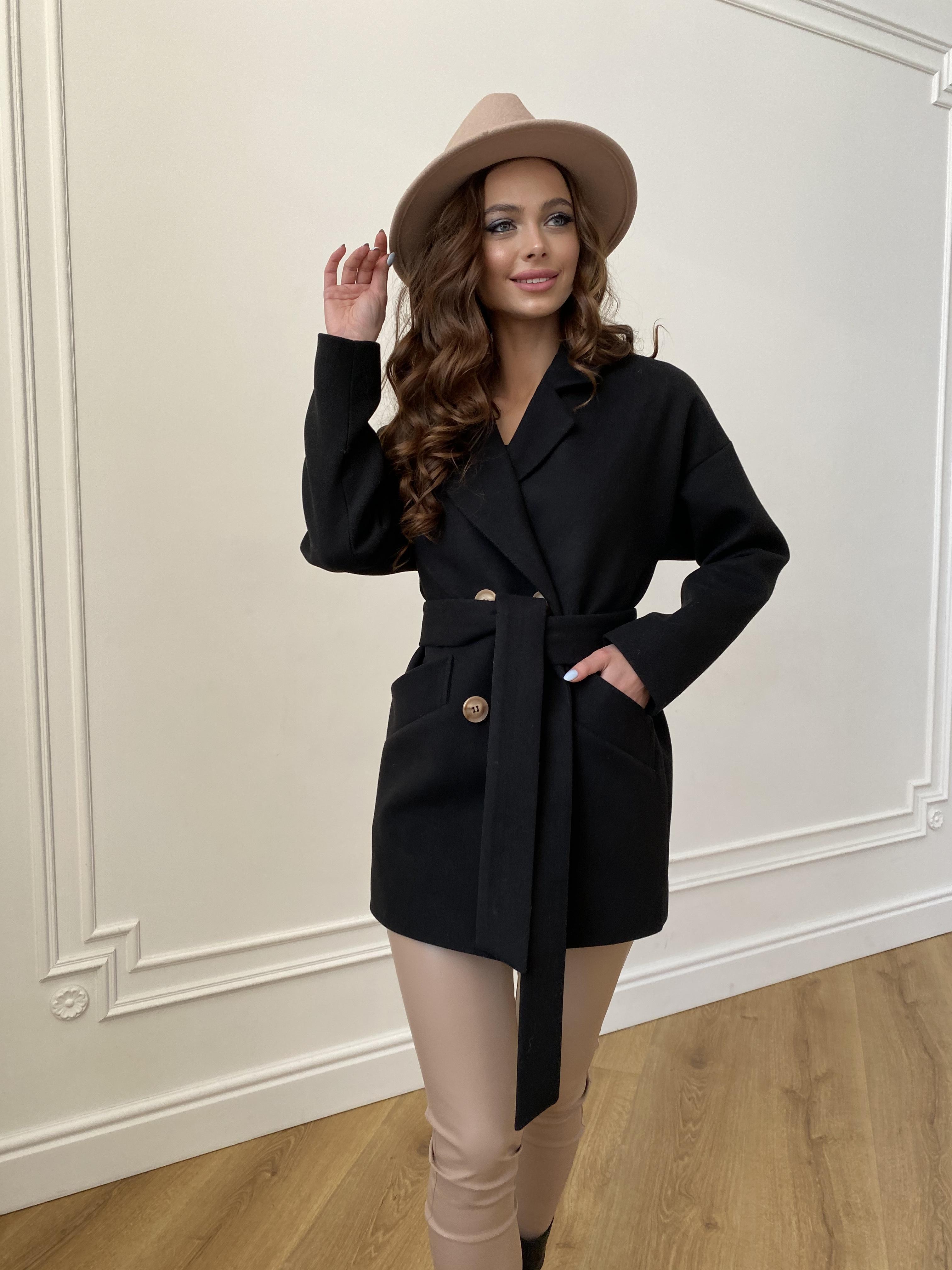 Бонд пальто из гладкого кашемира 10900 АРТ. 47367 Цвет: Черный - фото 8, интернет магазин tm-modus.ru