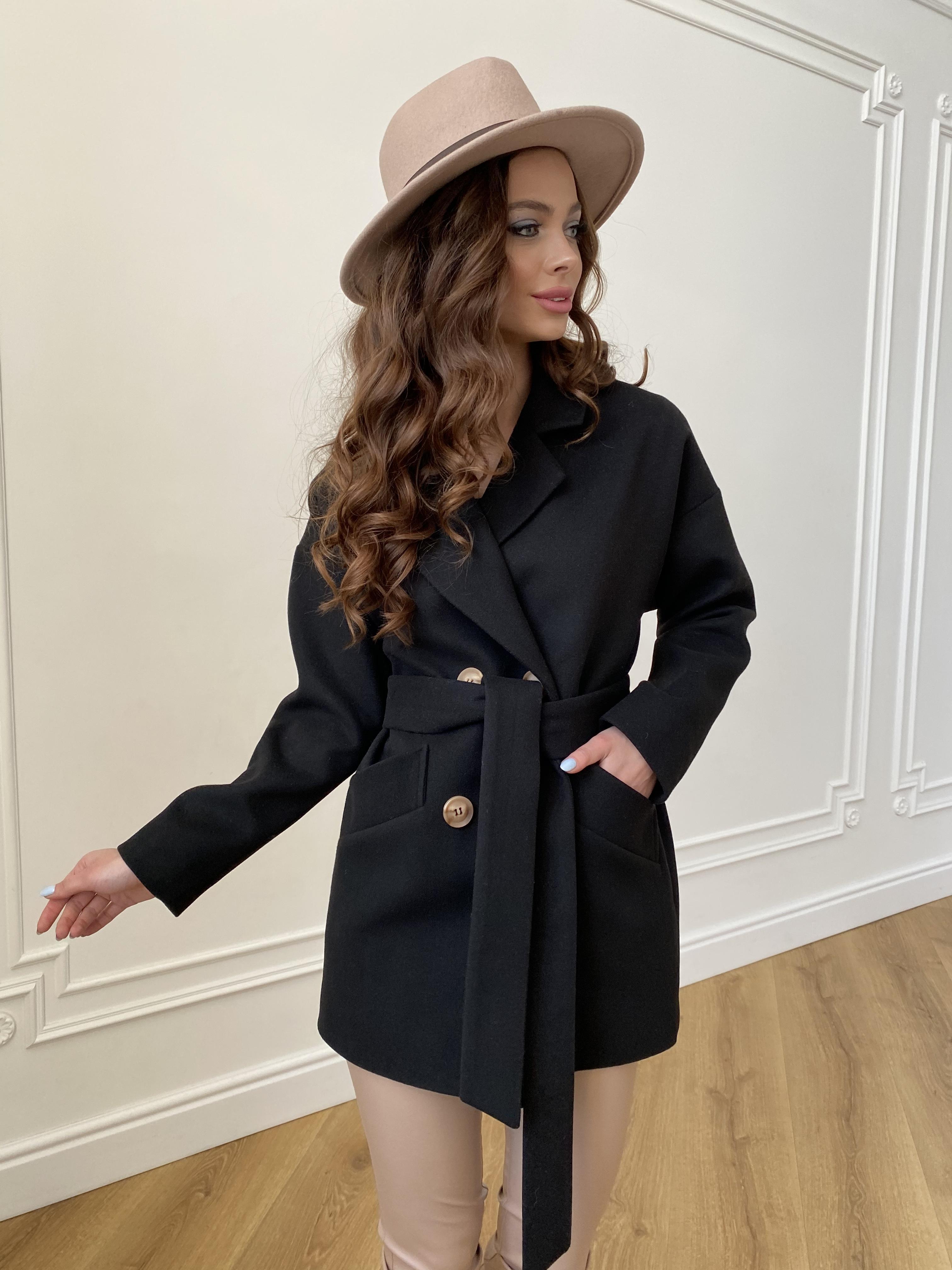 Бонд пальто из гладкого кашемира 10900 АРТ. 47367 Цвет: Черный - фото 9, интернет магазин tm-modus.ru