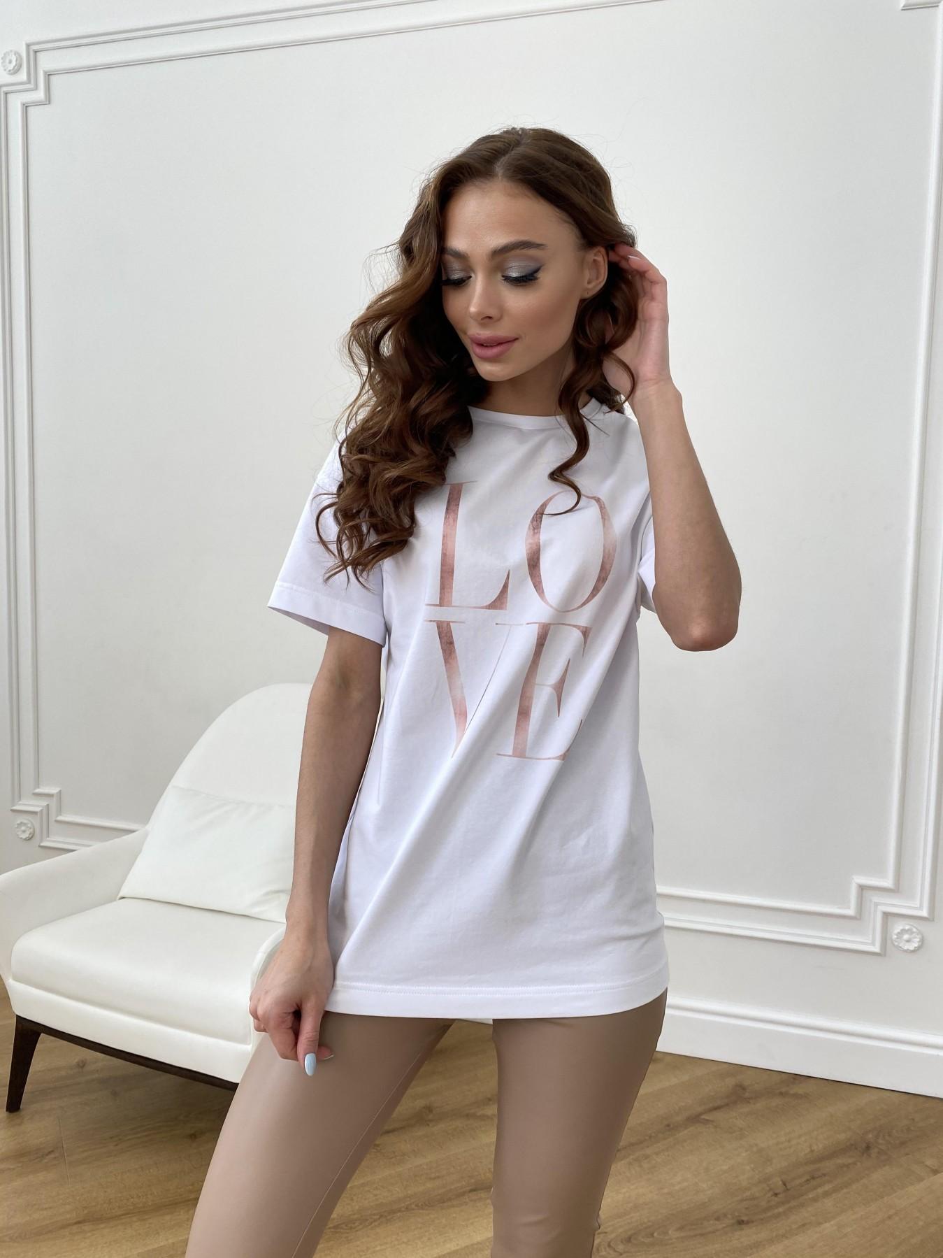 Майки женские купить Украина Лове футболка из вискозы однотонная хлопок 11176
