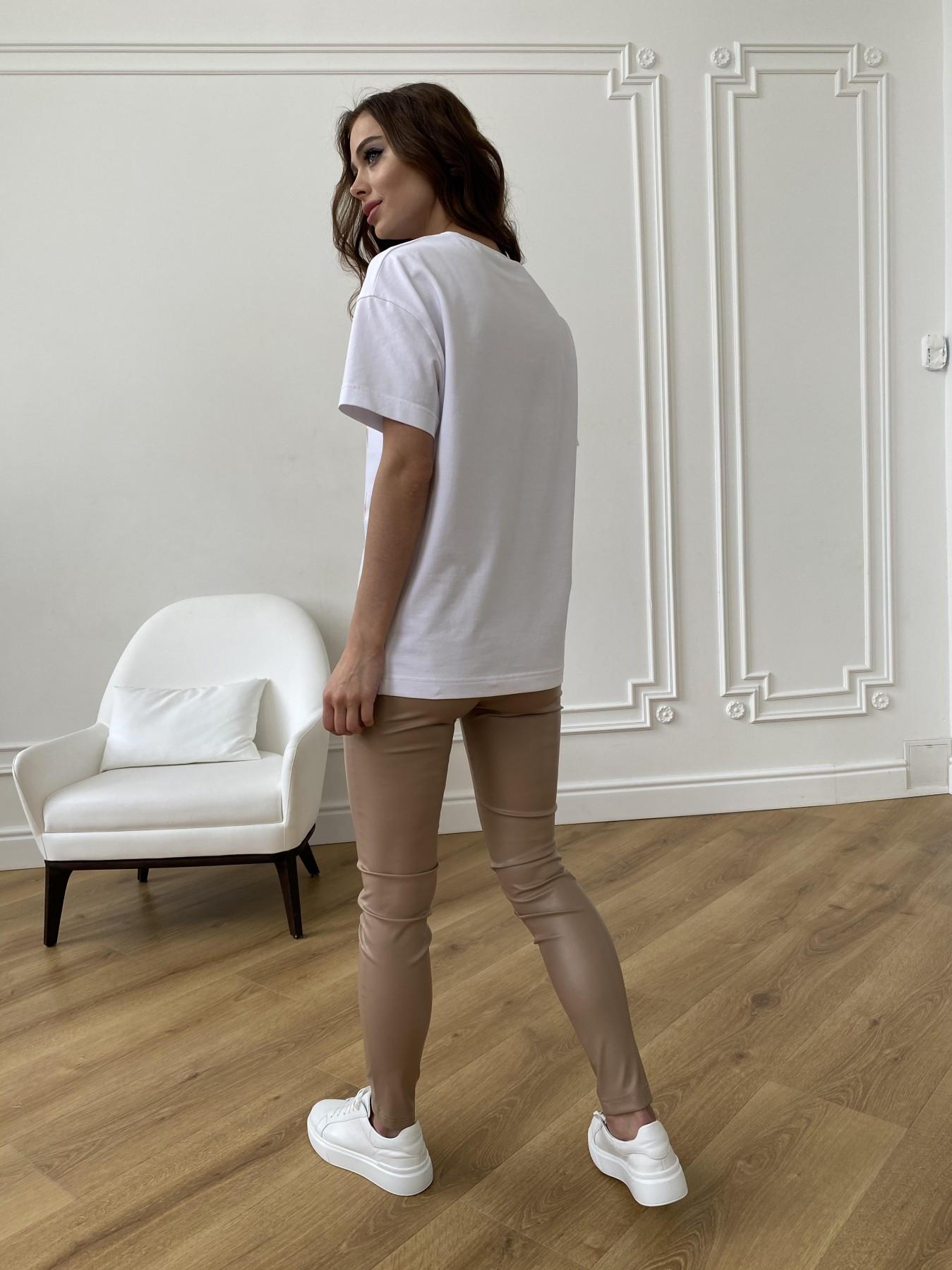 Лове футболка из вискозы однотонная хлопок 11176 АРТ. 47664 Цвет: Белый - фото 7, интернет магазин tm-modus.ru