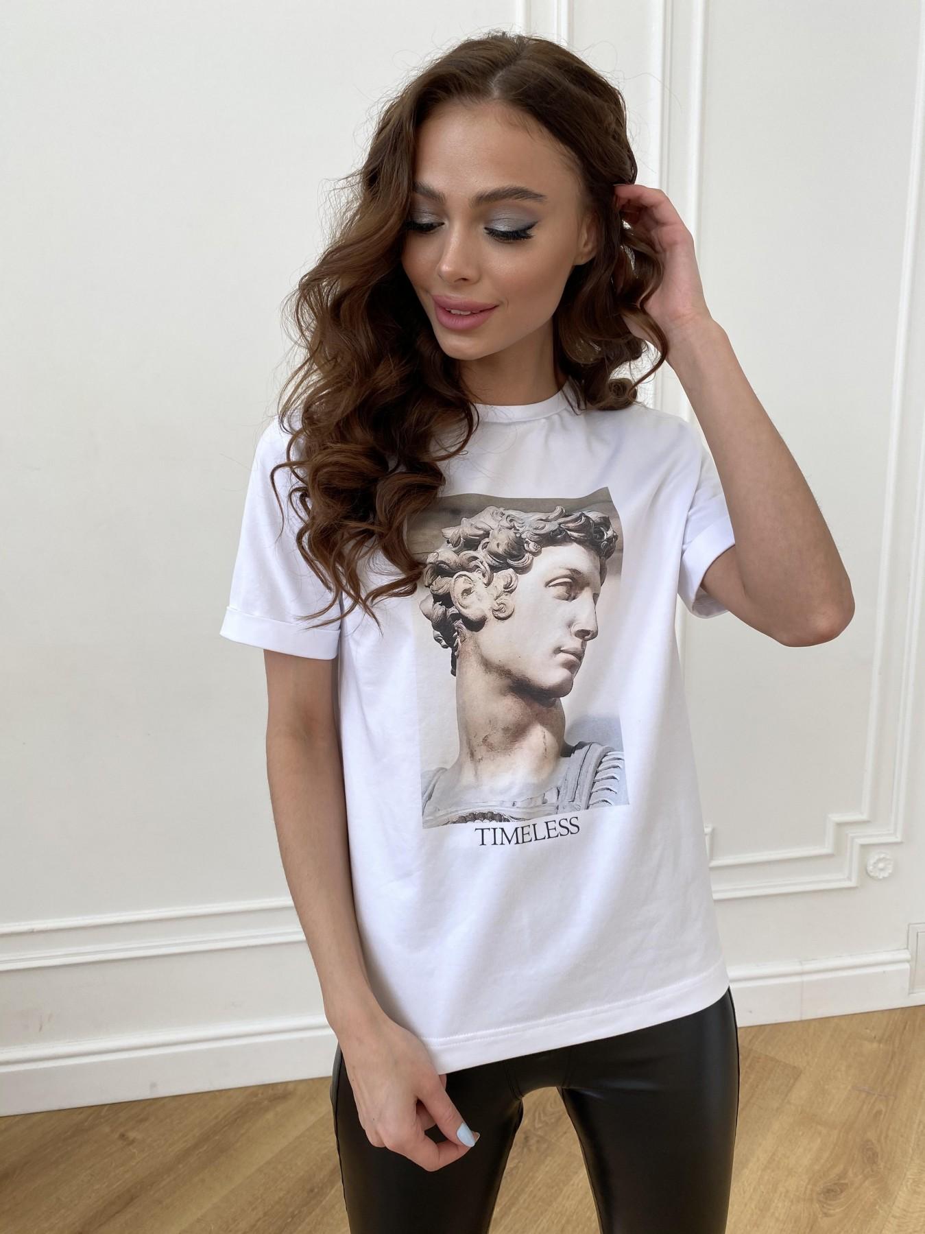 Давид вискоза однотонная стрейч хлопок футболка 11175 АРТ. 47663 Цвет: Белый - фото 4, интернет магазин tm-modus.ru