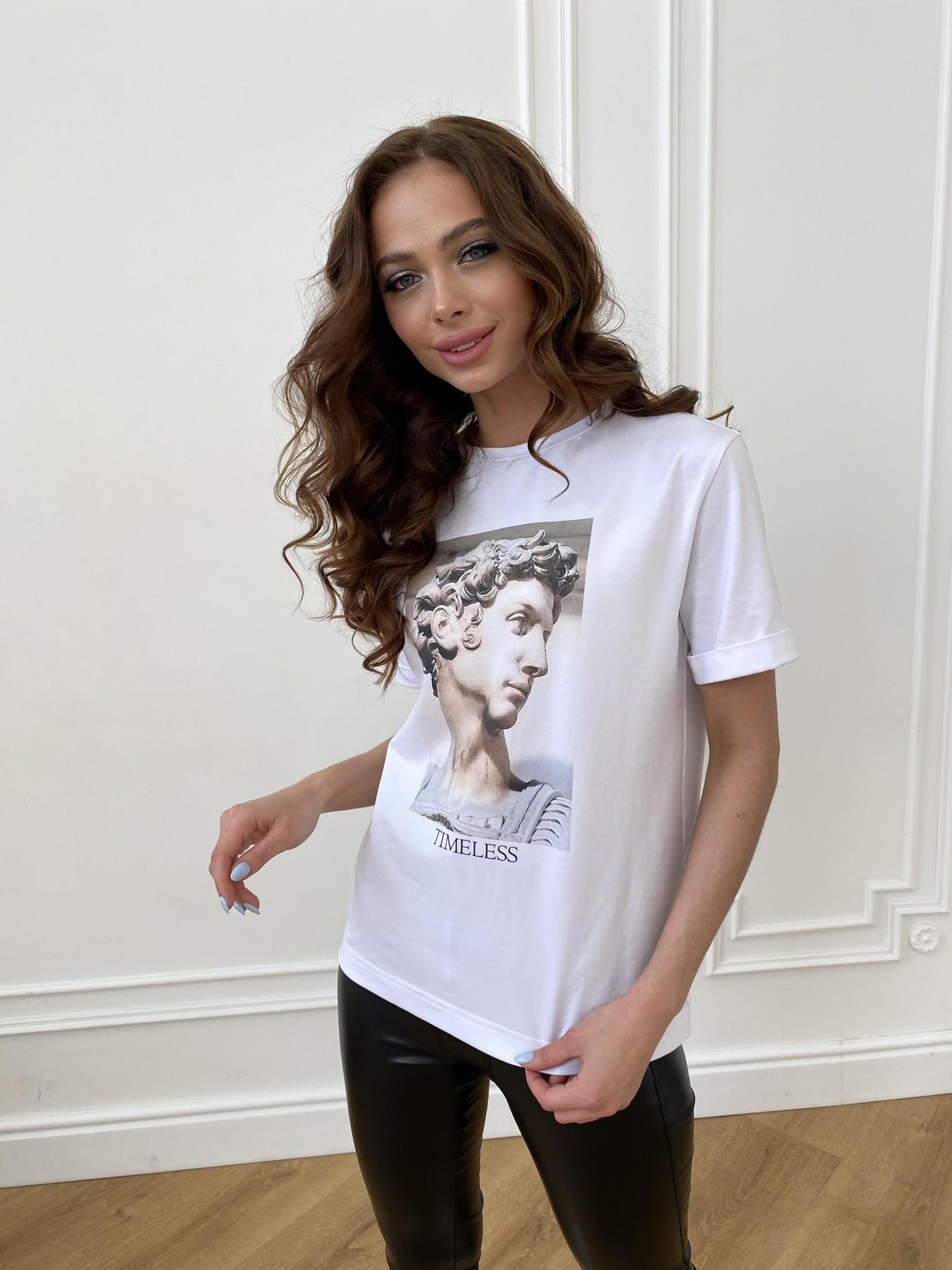 Давид вискоза однотонная стрейч хлопок футболка 11175 АРТ. 47663 Цвет: Белый - фото 5, интернет магазин tm-modus.ru