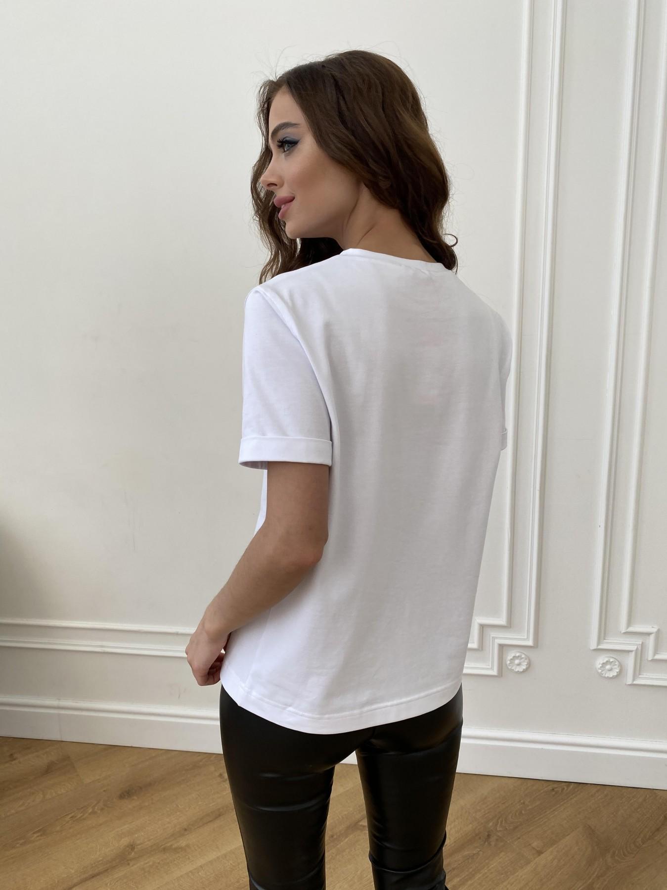 Давид вискоза однотонная стрейч хлопок футболка 11175 АРТ. 47663 Цвет: Белый - фото 7, интернет магазин tm-modus.ru