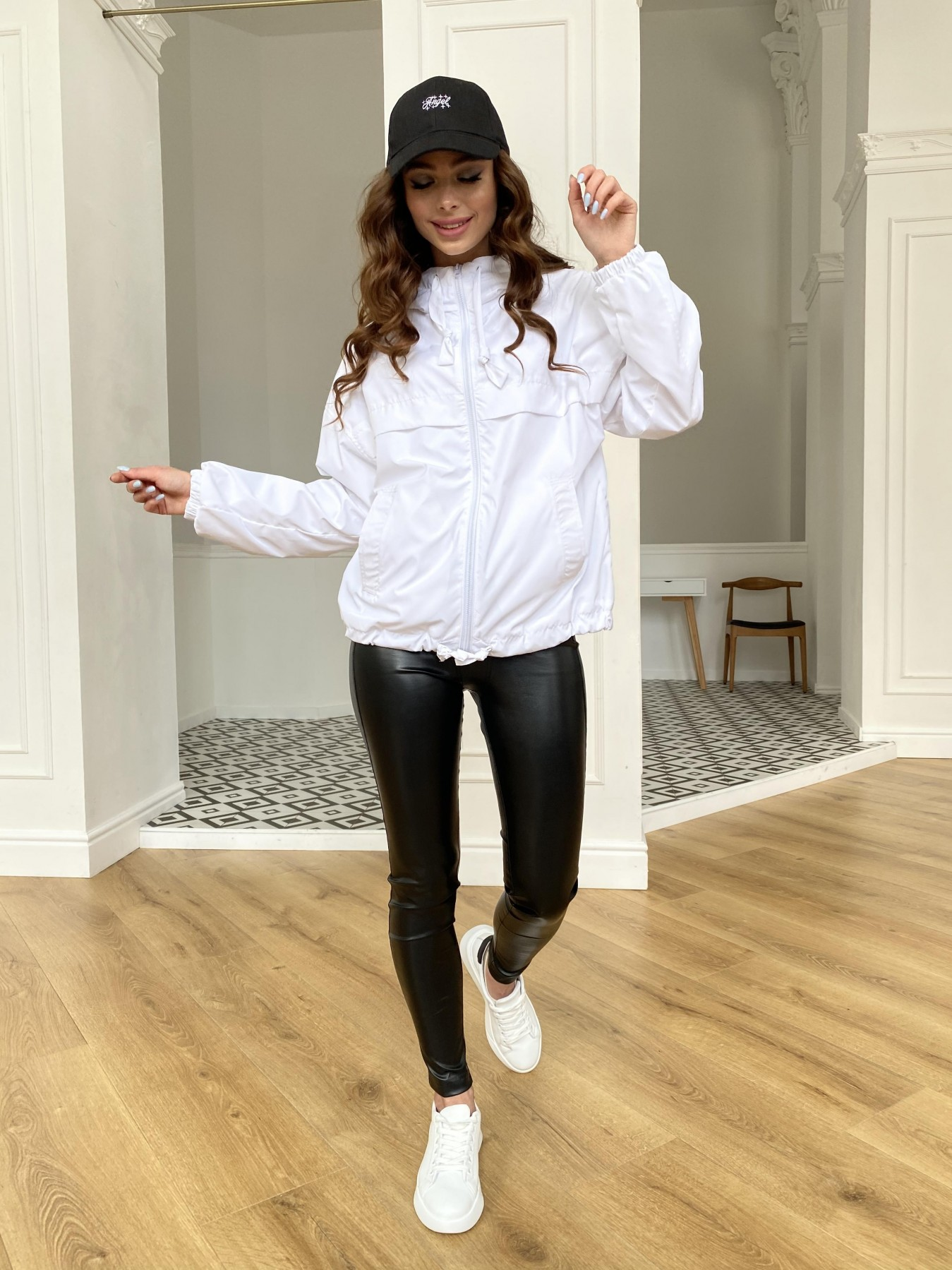 Фит куртка из плащевой ткани Ammy 11013 АРТ. 47646 Цвет: Молоко 12 - фото 13, интернет магазин tm-modus.ru