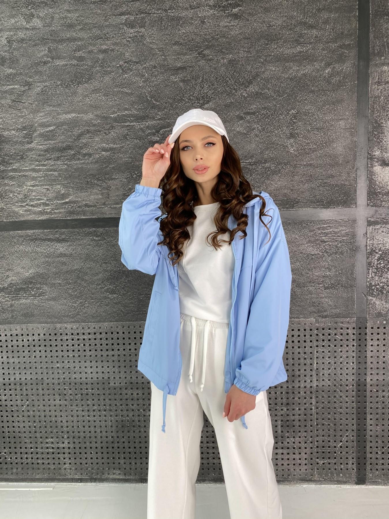 Фит куртка из плащевой ткани Ammy 11013 АРТ. 47593 Цвет: Голубой - фото 2, интернет магазин tm-modus.ru