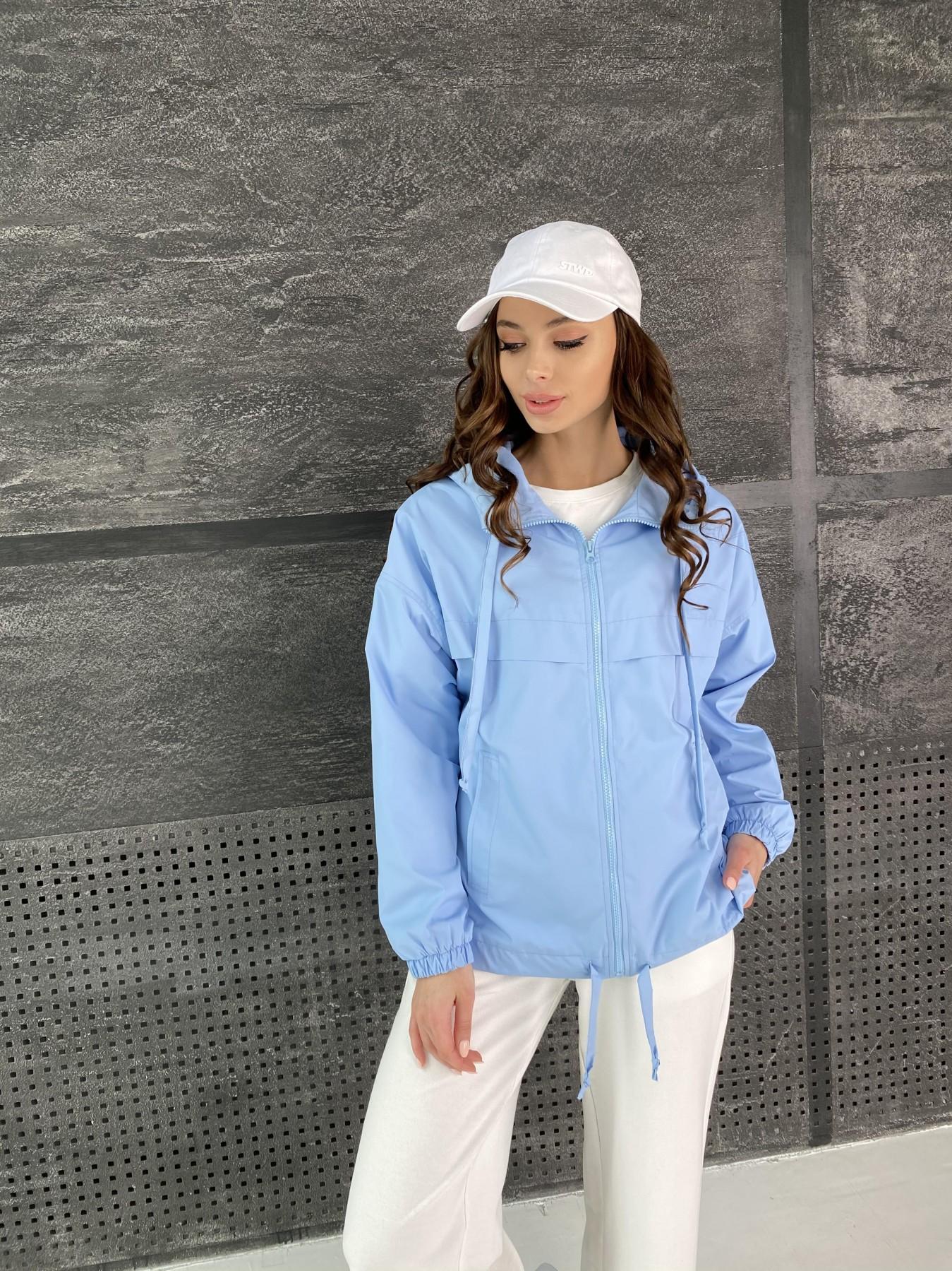Фит куртка из плащевой ткани Ammy 11013 АРТ. 47593 Цвет: Голубой - фото 3, интернет магазин tm-modus.ru