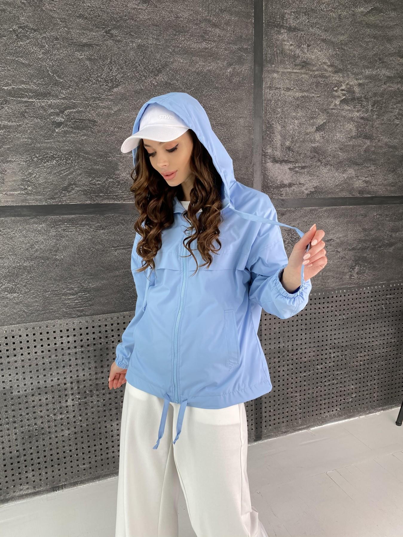 Фит куртка из плащевой ткани Ammy 11013 АРТ. 47593 Цвет: Голубой - фото 7, интернет магазин tm-modus.ru