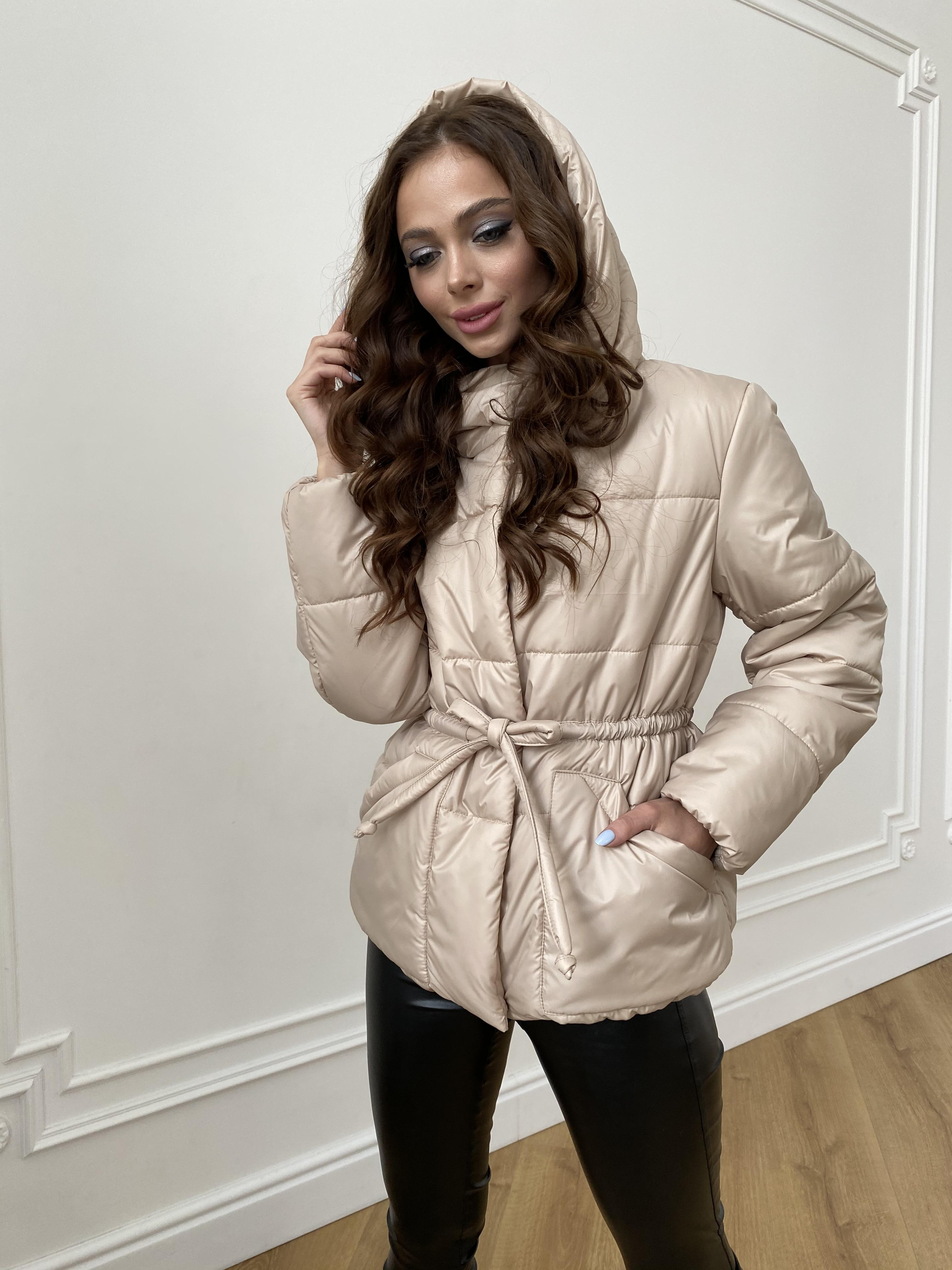 Пино куртка из плащевой ткани 10489 АРТ. 47391 Цвет: Бежевый - фото 2, интернет магазин tm-modus.ru