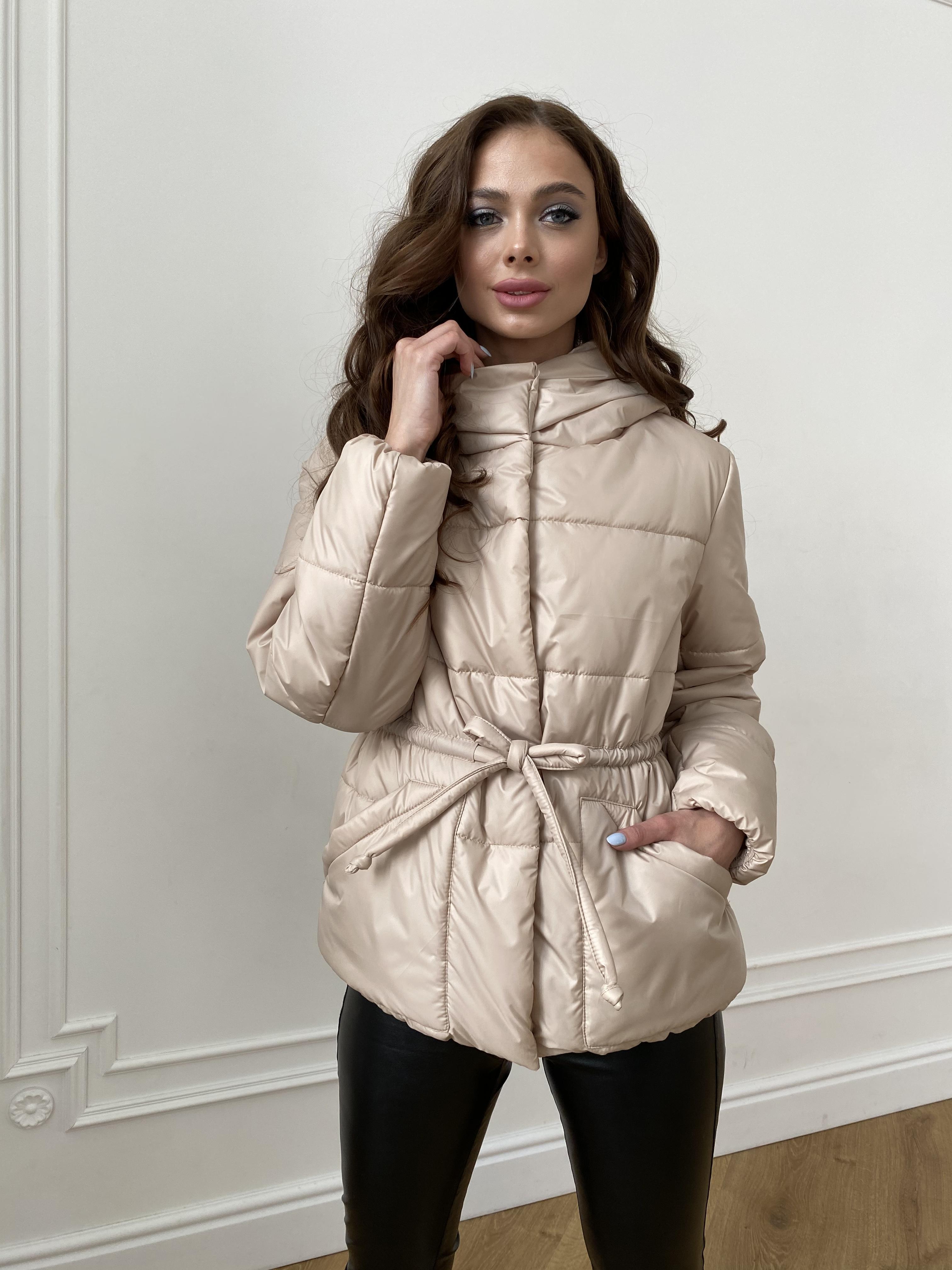 Пино куртка из плащевой ткани 10489 АРТ. 47391 Цвет: Бежевый - фото 3, интернет магазин tm-modus.ru