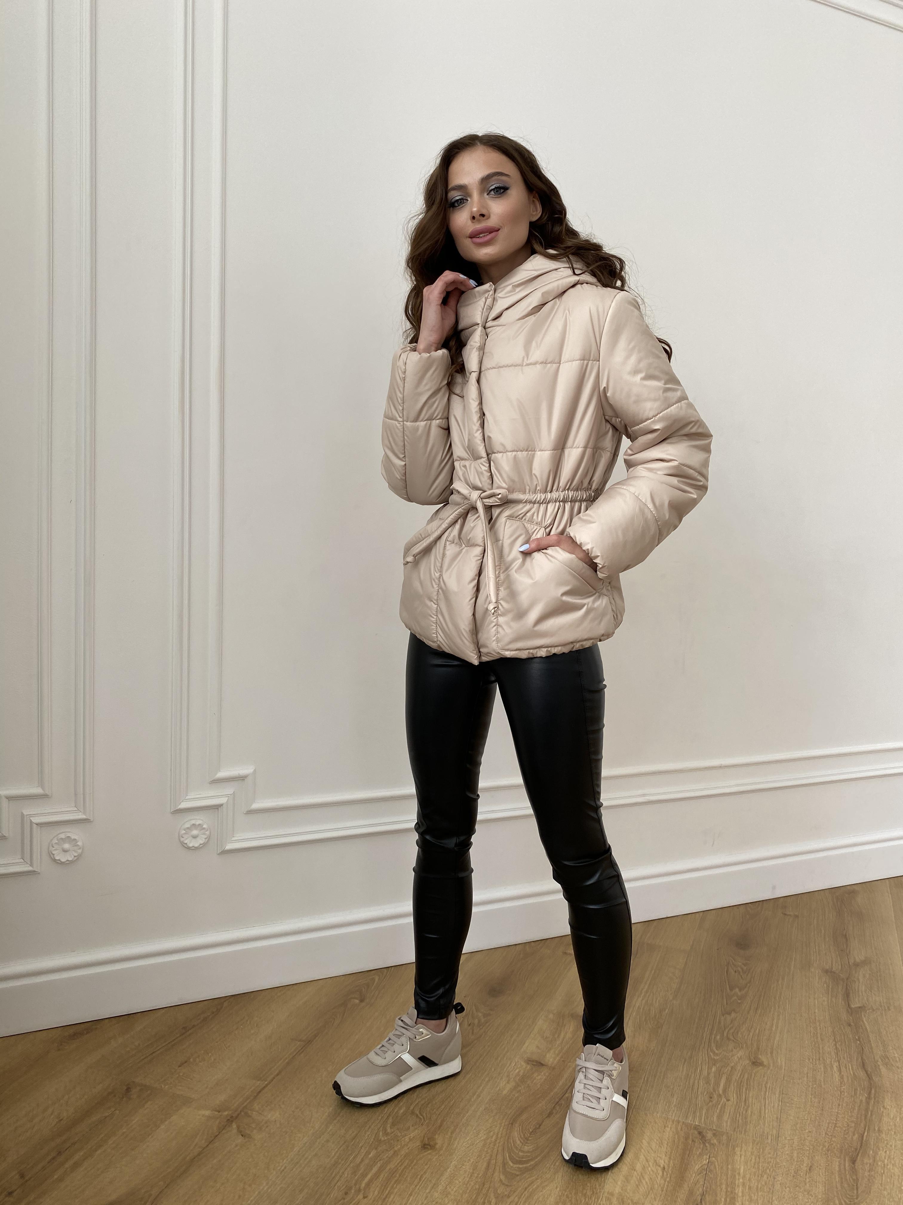 Пино куртка из плащевой ткани 10489 АРТ. 47391 Цвет: Бежевый - фото 6, интернет магазин tm-modus.ru