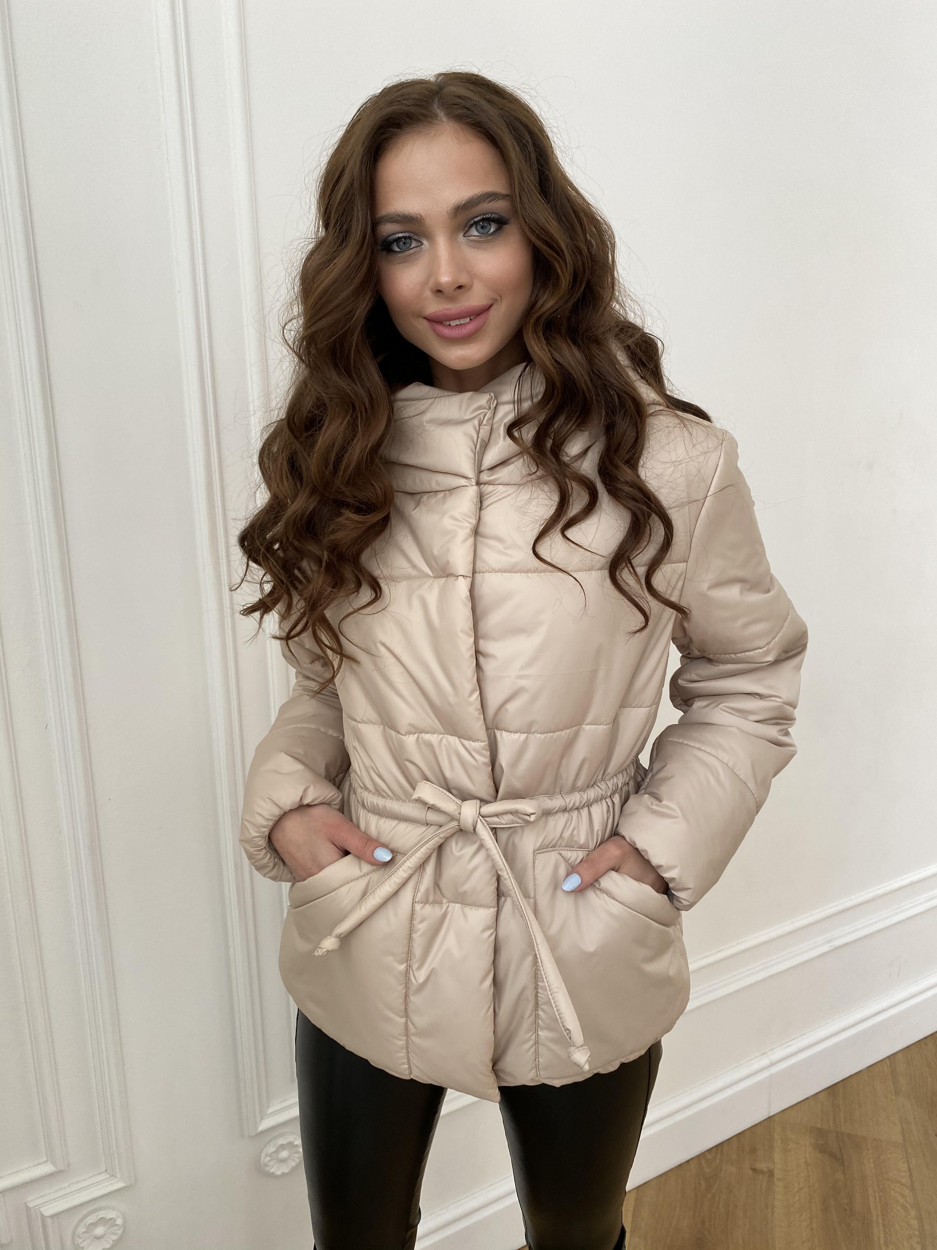 Пино куртка из плащевой ткани 10489 АРТ. 47391 Цвет: Бежевый - фото 7, интернет магазин tm-modus.ru