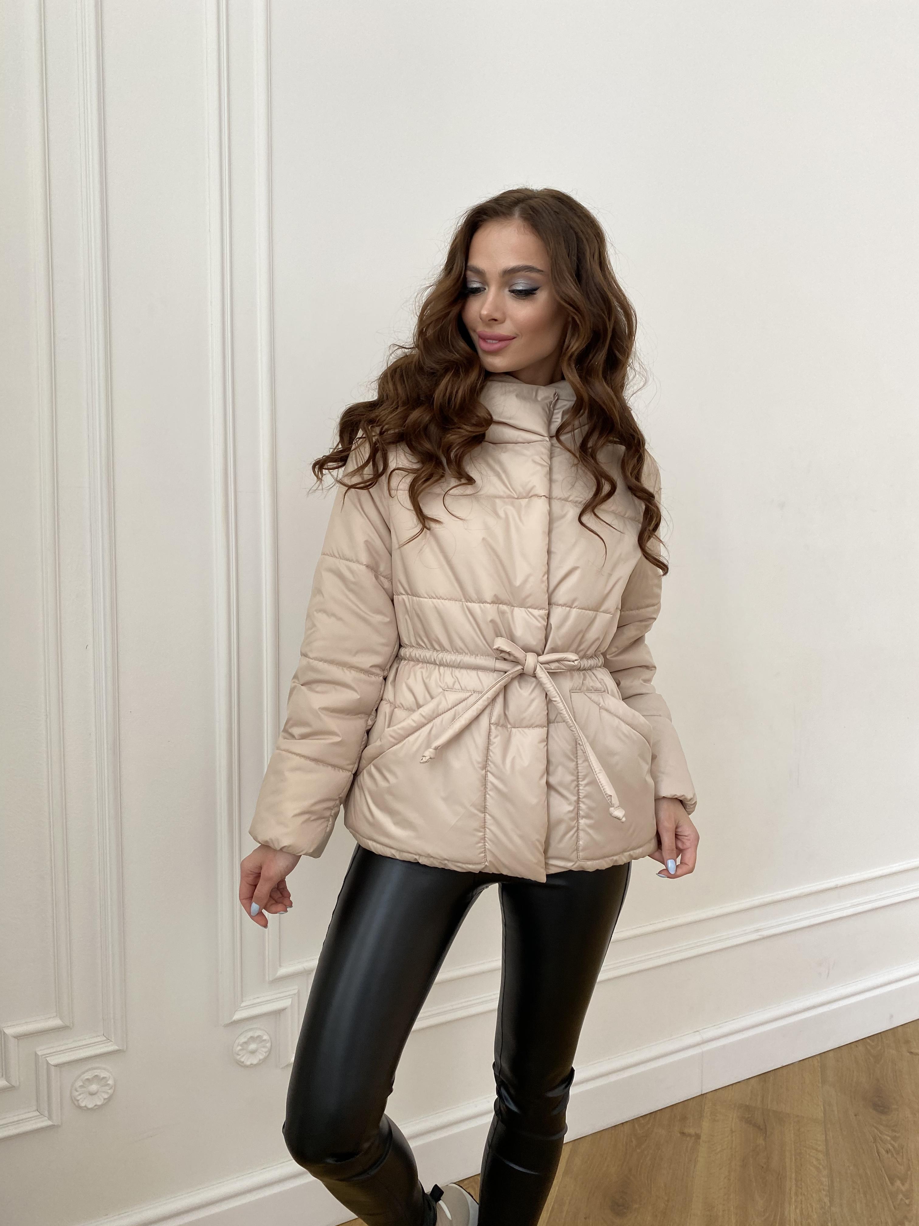 Пино куртка из плащевой ткани 10489 АРТ. 47391 Цвет: Бежевый - фото 8, интернет магазин tm-modus.ru