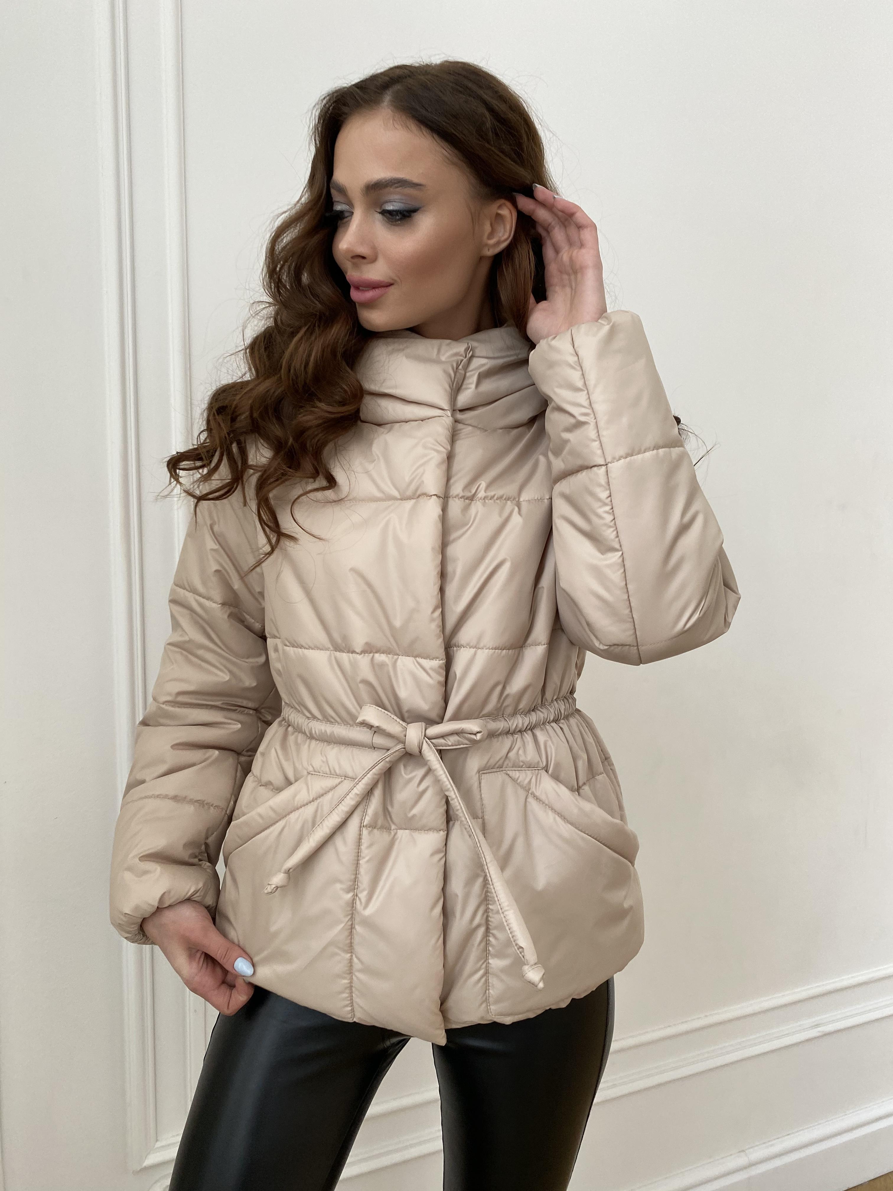 Пино куртка из плащевой ткани 10489 АРТ. 47391 Цвет: Бежевый - фото 9, интернет магазин tm-modus.ru
