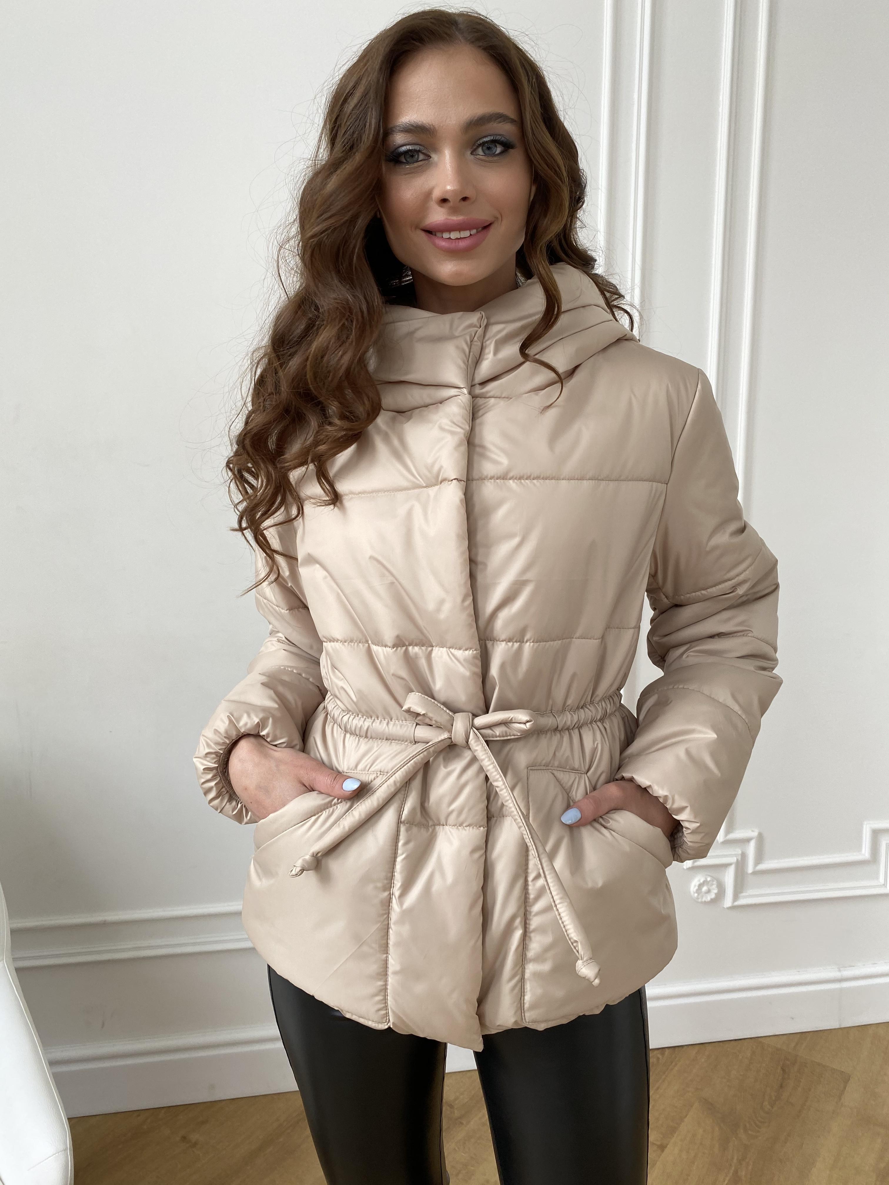 Пино куртка из плащевой ткани 10489 АРТ. 47391 Цвет: Бежевый - фото 10, интернет магазин tm-modus.ru