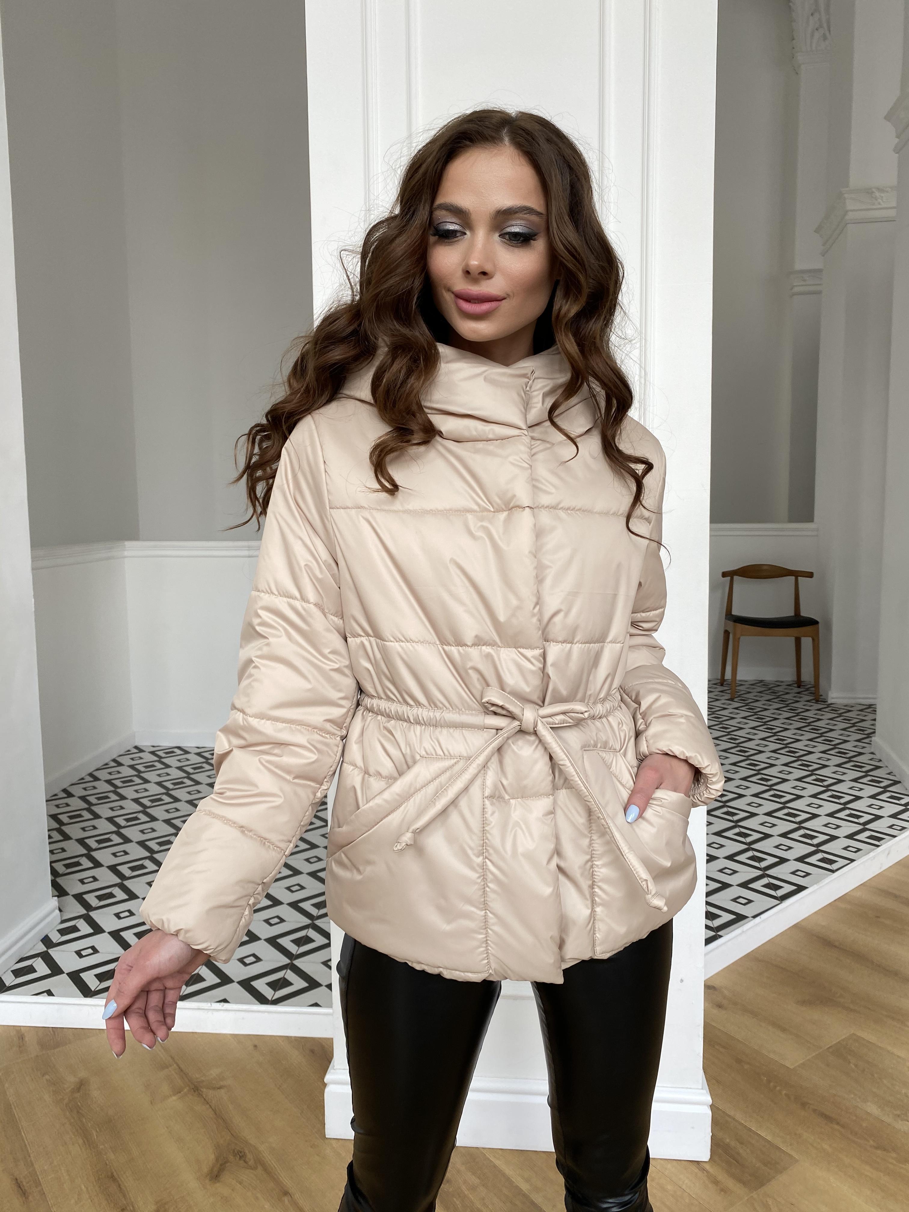 Пино куртка из плащевой ткани 10489 АРТ. 47391 Цвет: Бежевый - фото 11, интернет магазин tm-modus.ru