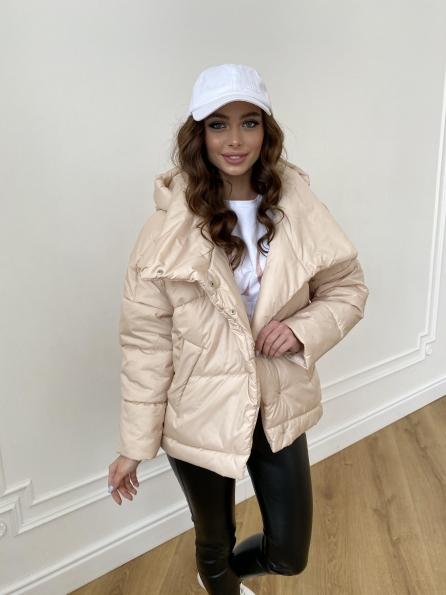Уно short куртка из плащевой ткани Ammy 10927 Цвет: Бежевый