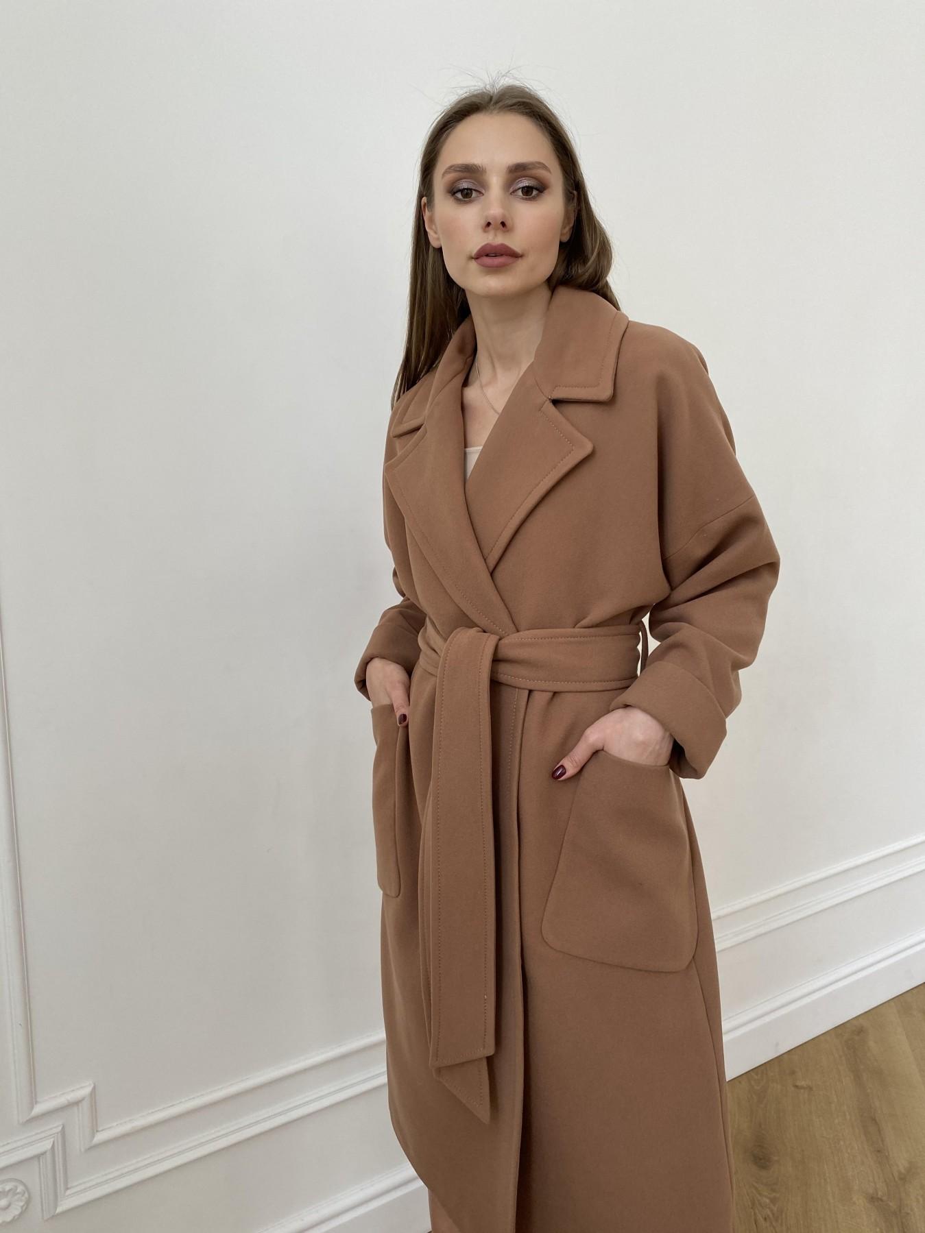 Кейт  пальто из кашемира 10539 АРТ. 47460 Цвет: Кемел Темный 8442 - фото 3, интернет магазин tm-modus.ru