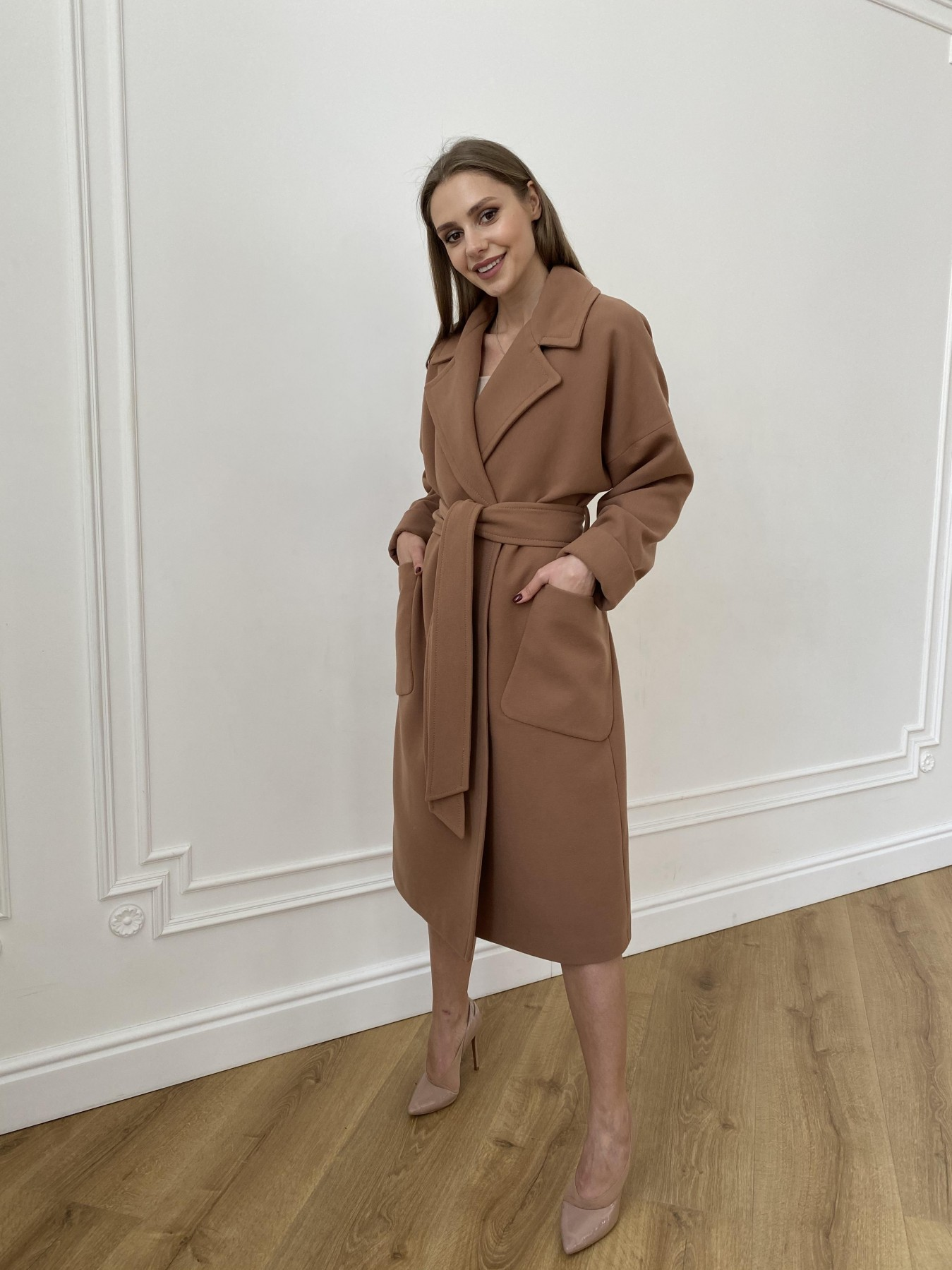 Кейт  пальто из кашемира 10539 АРТ. 47460 Цвет: Кемел Темный 8442 - фото 4, интернет магазин tm-modus.ru