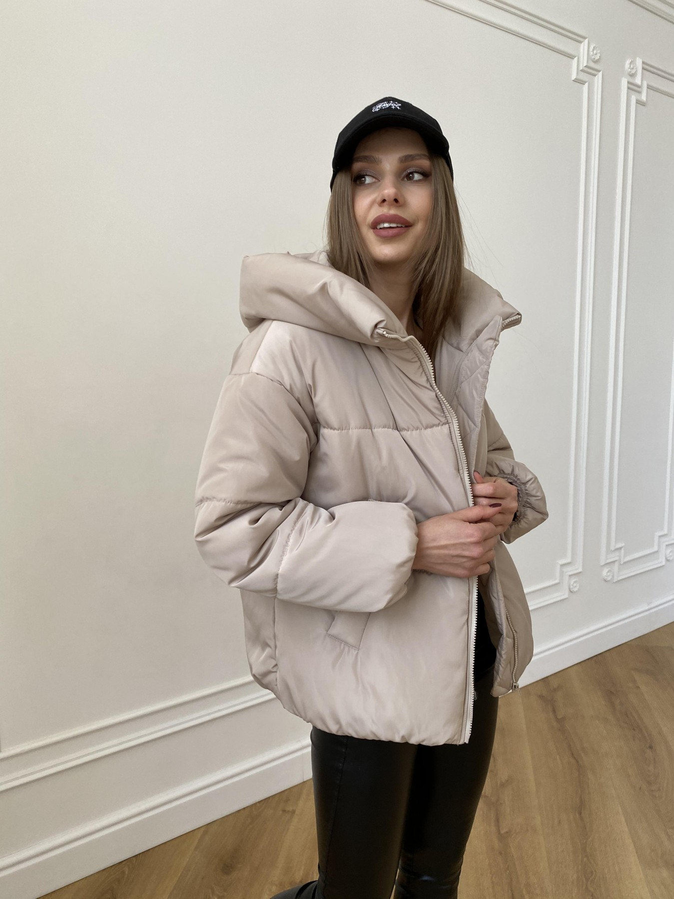 Нокс куртка из плащевой ткани 10535 АРТ. 47482 Цвет: Бежевый - фото 8, интернет магазин tm-modus.ru