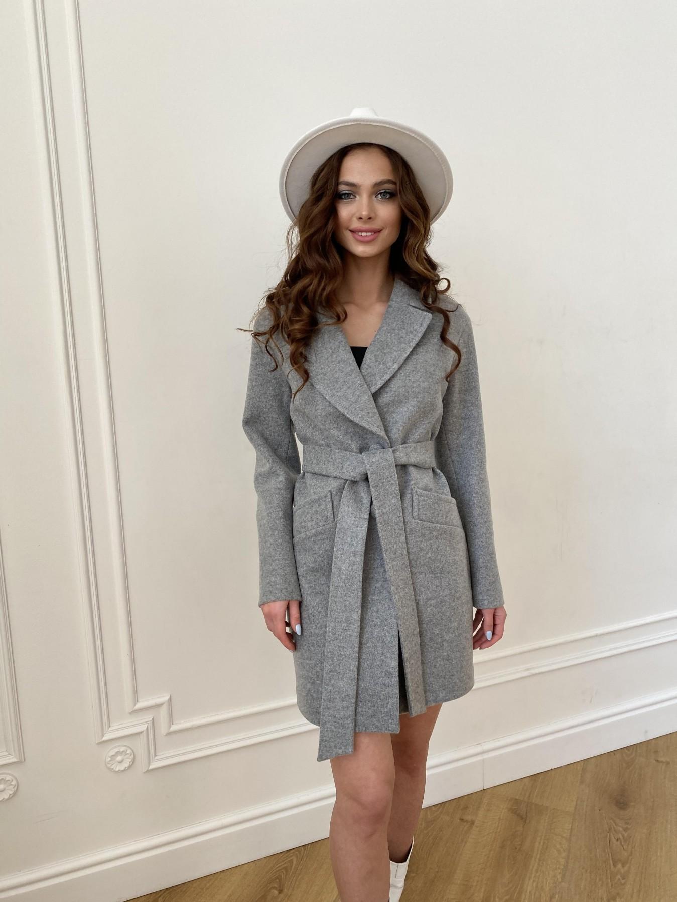 Вейсона пальто из кашемира меланж на трикотаже  10743 АРТ. 47596 Цвет: Серый 1 - фото 6, интернет магазин tm-modus.ru
