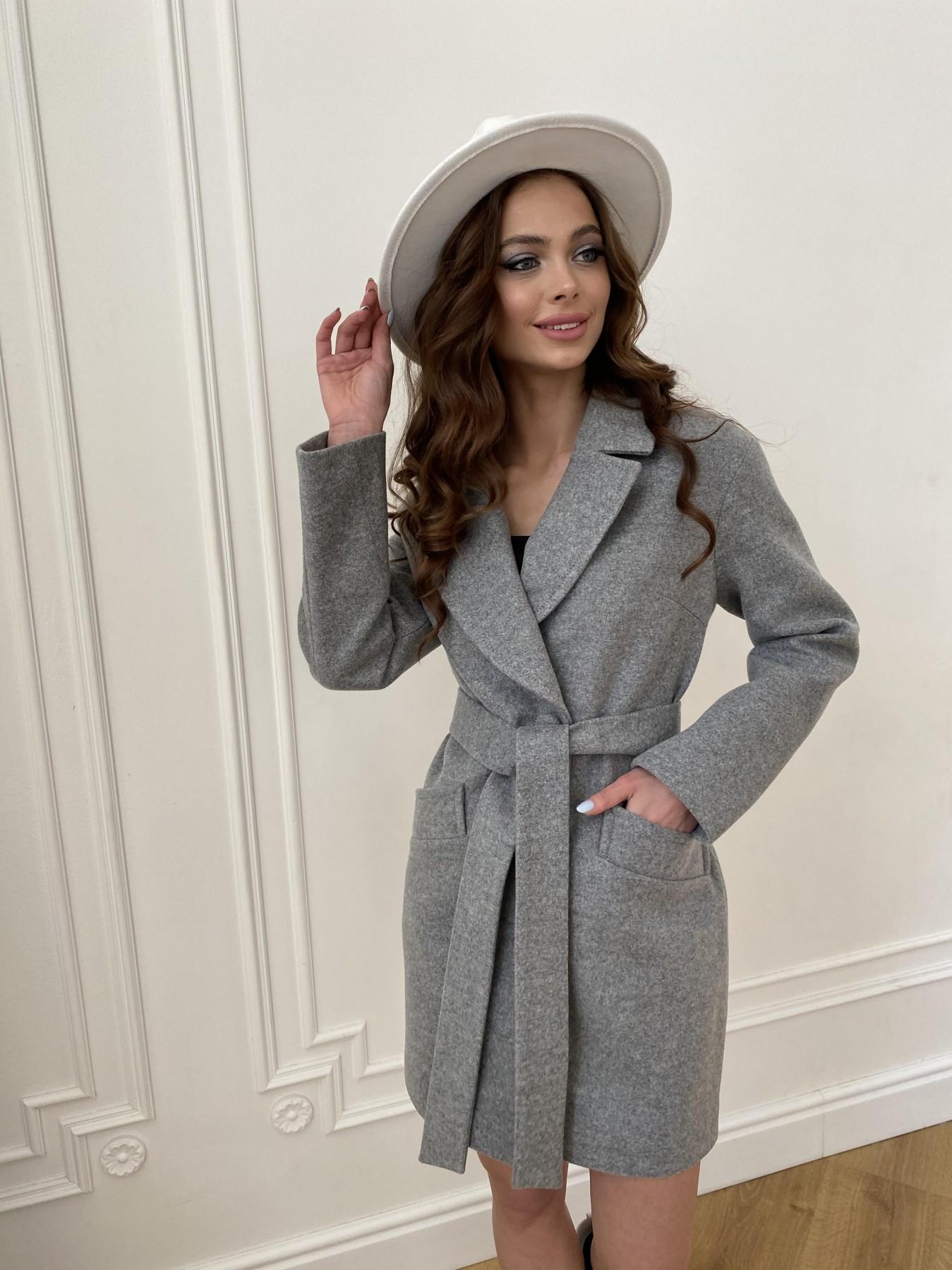 Вейсона пальто из кашемира меланж на трикотаже  10743 АРТ. 47596 Цвет: Серый 1 - фото 10, интернет магазин tm-modus.ru