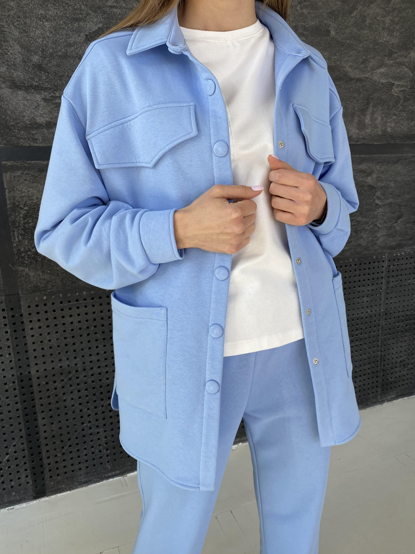 Респект костюм из трикотажа  3х нитка 11055 АРТ. 47575 Цвет: Голубой - фото 1, интернет магазин tm-modus.ru