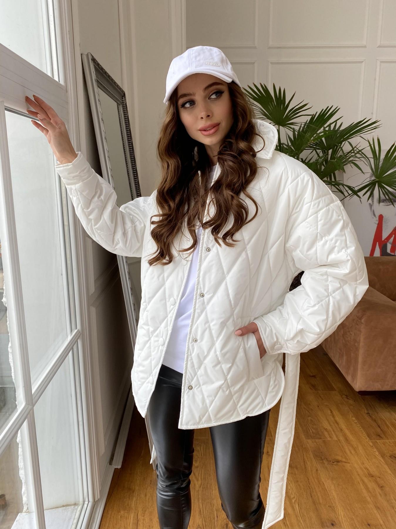 Моно куртка из плащевой ткани Ammy 10972 АРТ. 47667 Цвет: Молоко 12 - фото 1, интернет магазин tm-modus.ru