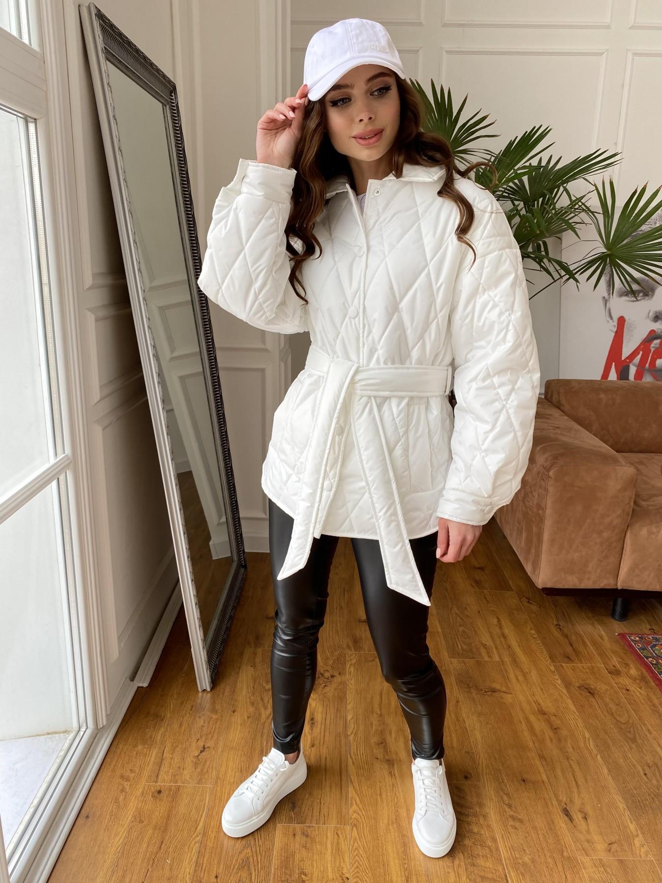 Моно куртка из плащевой ткани Ammy 10972 АРТ. 47667 Цвет: Молоко 12 - фото 3, интернет магазин tm-modus.ru