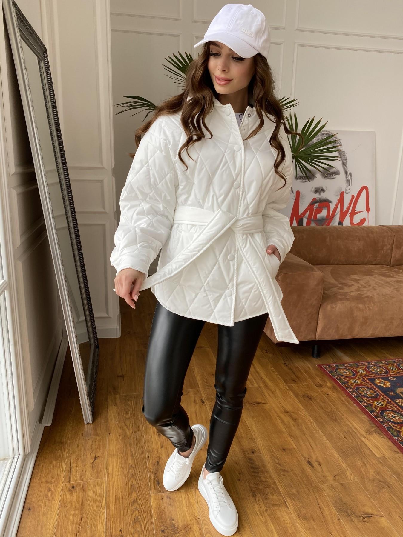 Моно куртка из плащевой ткани Ammy 10972 АРТ. 47667 Цвет: Молоко 12 - фото 5, интернет магазин tm-modus.ru