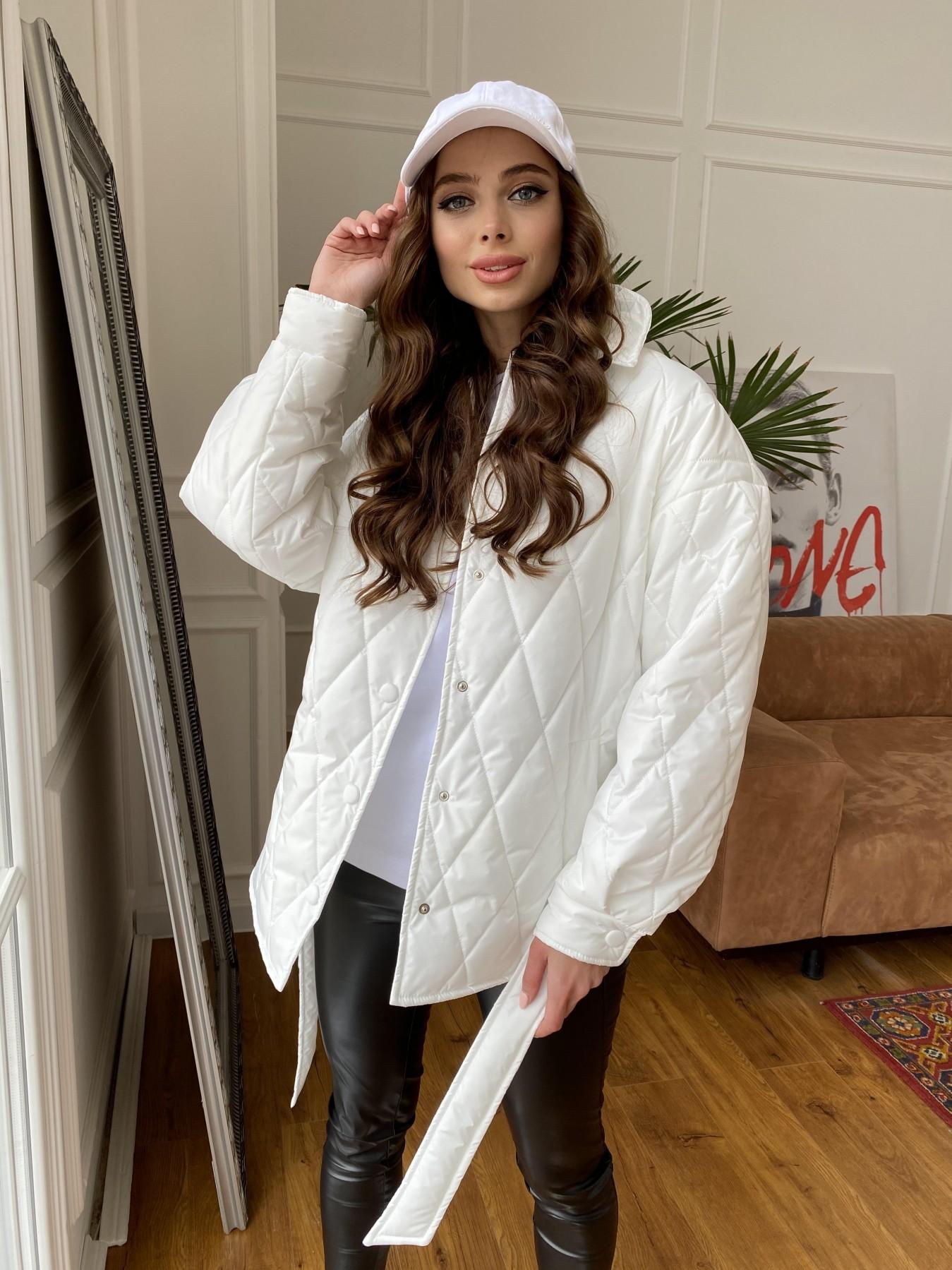Моно куртка из плащевой ткани Ammy 10972 АРТ. 47667 Цвет: Молоко 12 - фото 6, интернет магазин tm-modus.ru