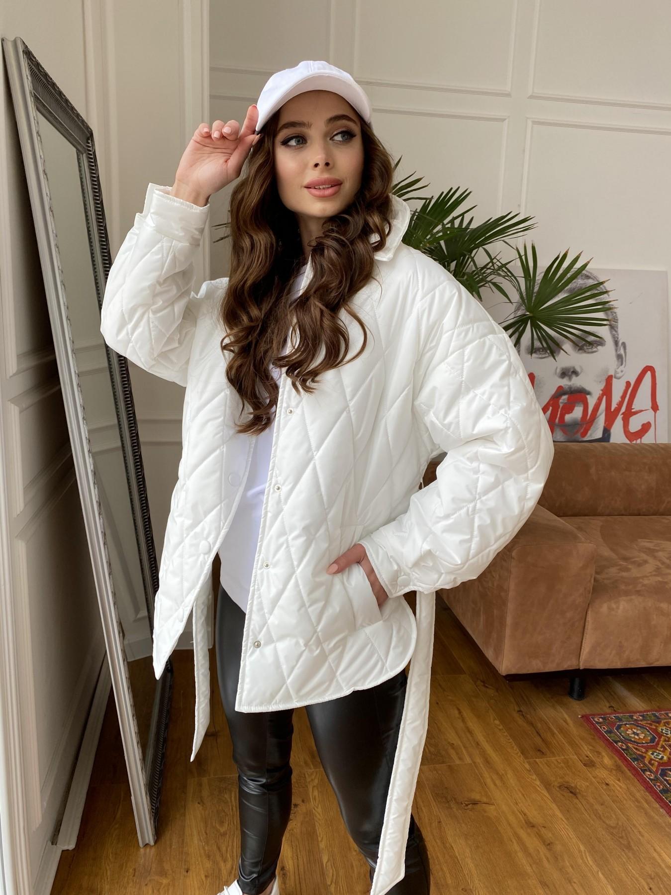 Моно куртка из плащевой ткани Ammy 10972 АРТ. 47667 Цвет: Молоко 12 - фото 7, интернет магазин tm-modus.ru