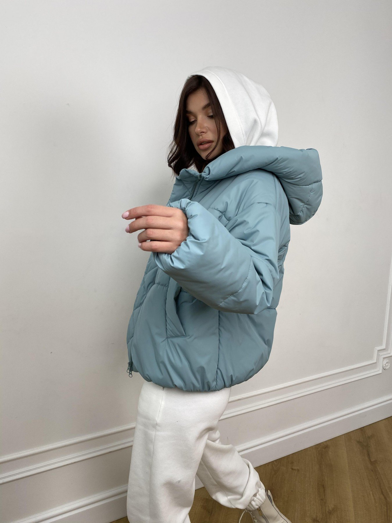 Нокс куртка  из плащевой ткани Astra 10994 АРТ. 47484 Цвет: Олива Astra - фото 6, интернет магазин tm-modus.ru