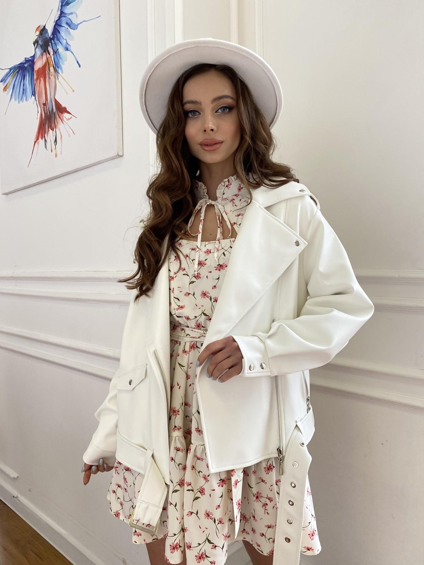 Фора куртка из экокожи прокатанная 11204 АРТ. 47716 Цвет: Молоко - фото 1, интернет магазин tm-modus.ru