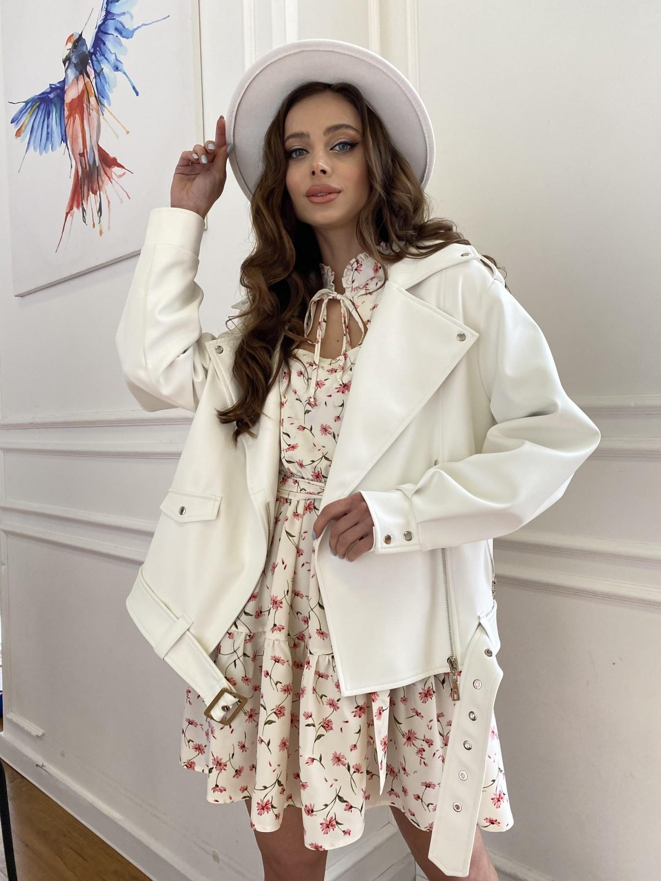 куртки демисезонные женские Харьков Фора куртка из экокожи прокатанная 11204