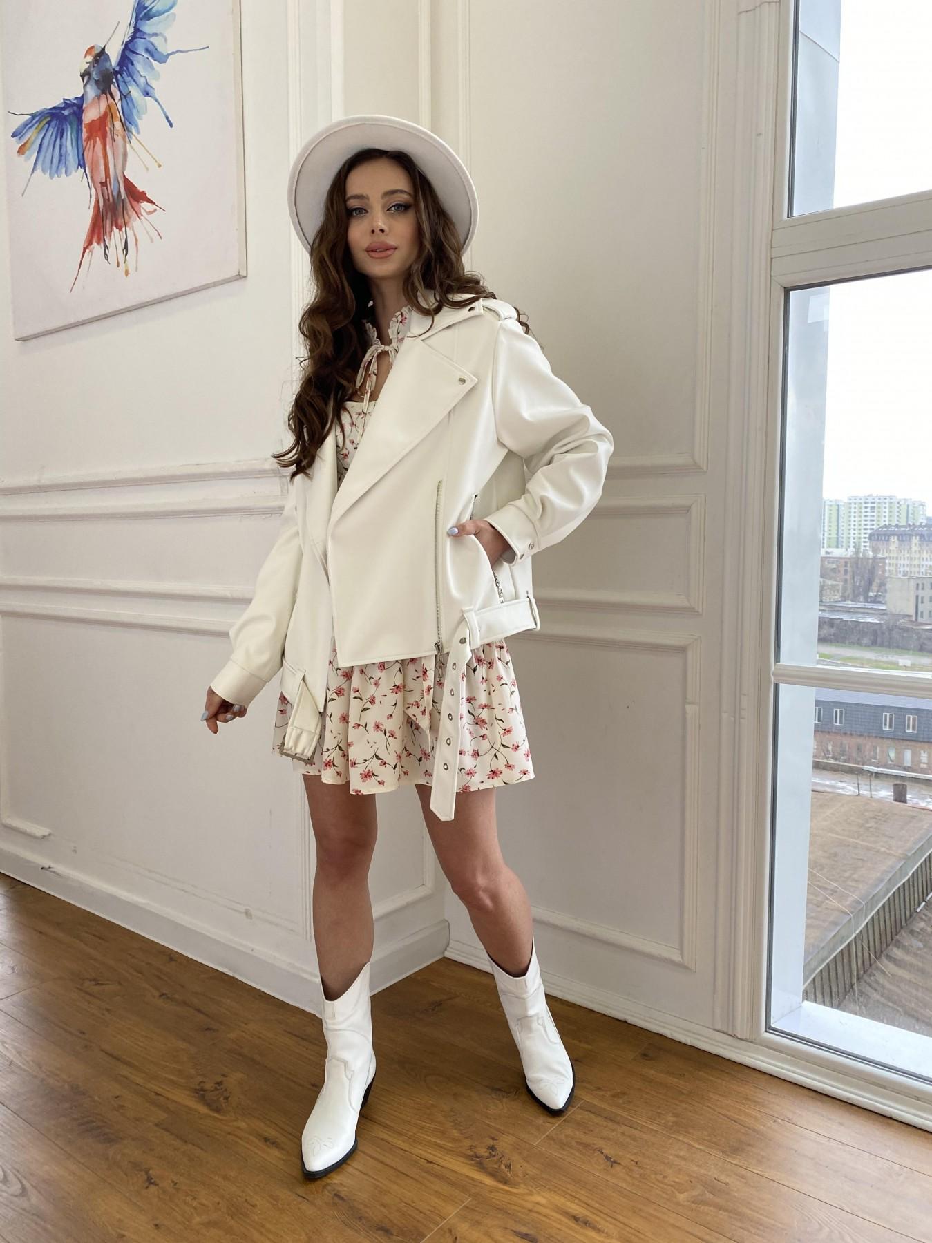 Фора куртка из экокожи прокатанная 11204 АРТ. 47716 Цвет: Молоко - фото 3, интернет магазин tm-modus.ru