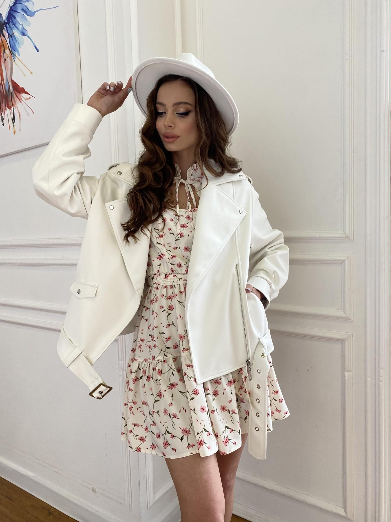 Фора куртка из экокожи прокатанная 11204 АРТ. 47716 Цвет: Молоко - фото 4, интернет магазин tm-modus.ru