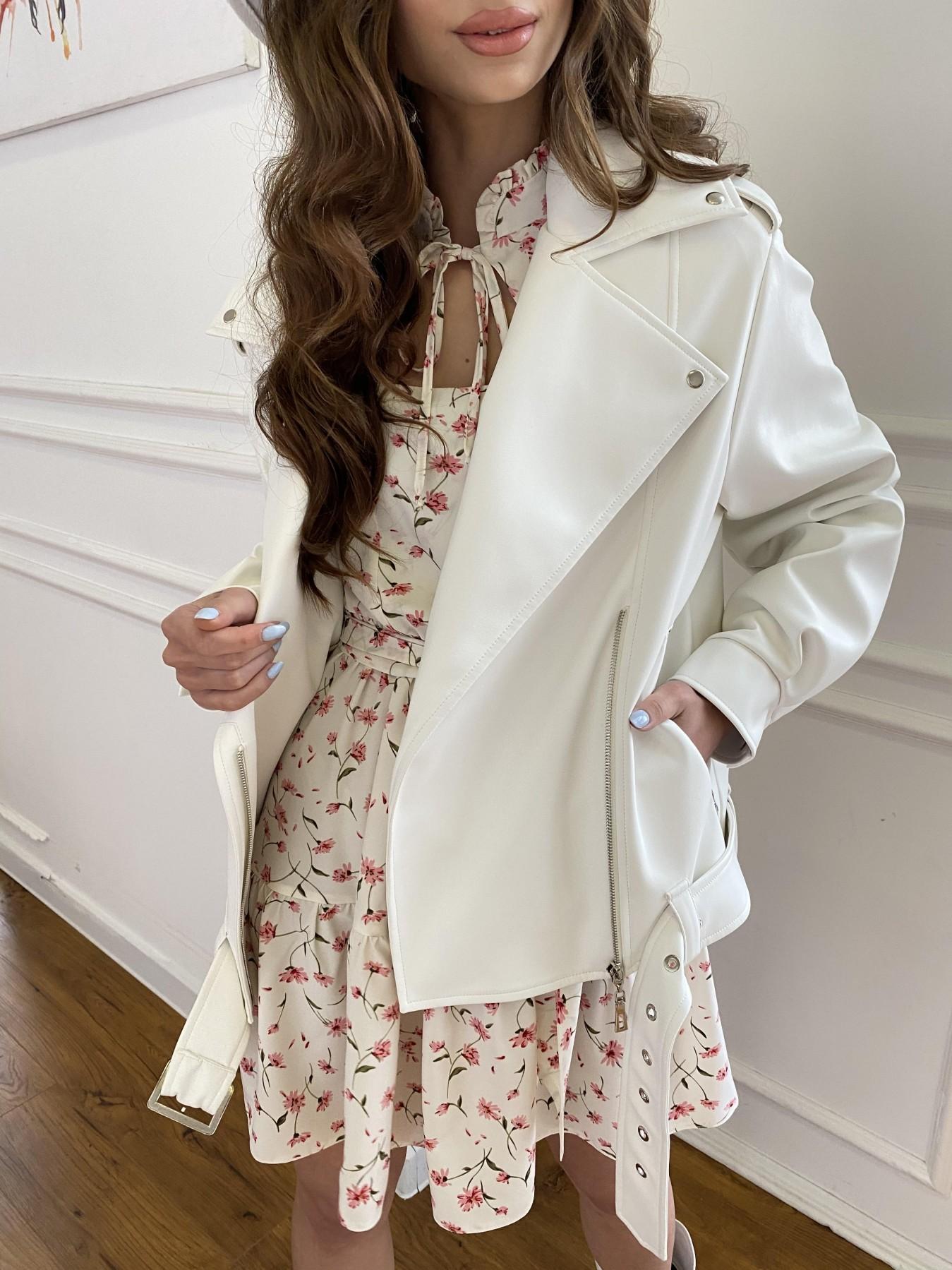 Фора куртка из экокожи прокатанная 11204 АРТ. 47716 Цвет: Молоко - фото 5, интернет магазин tm-modus.ru
