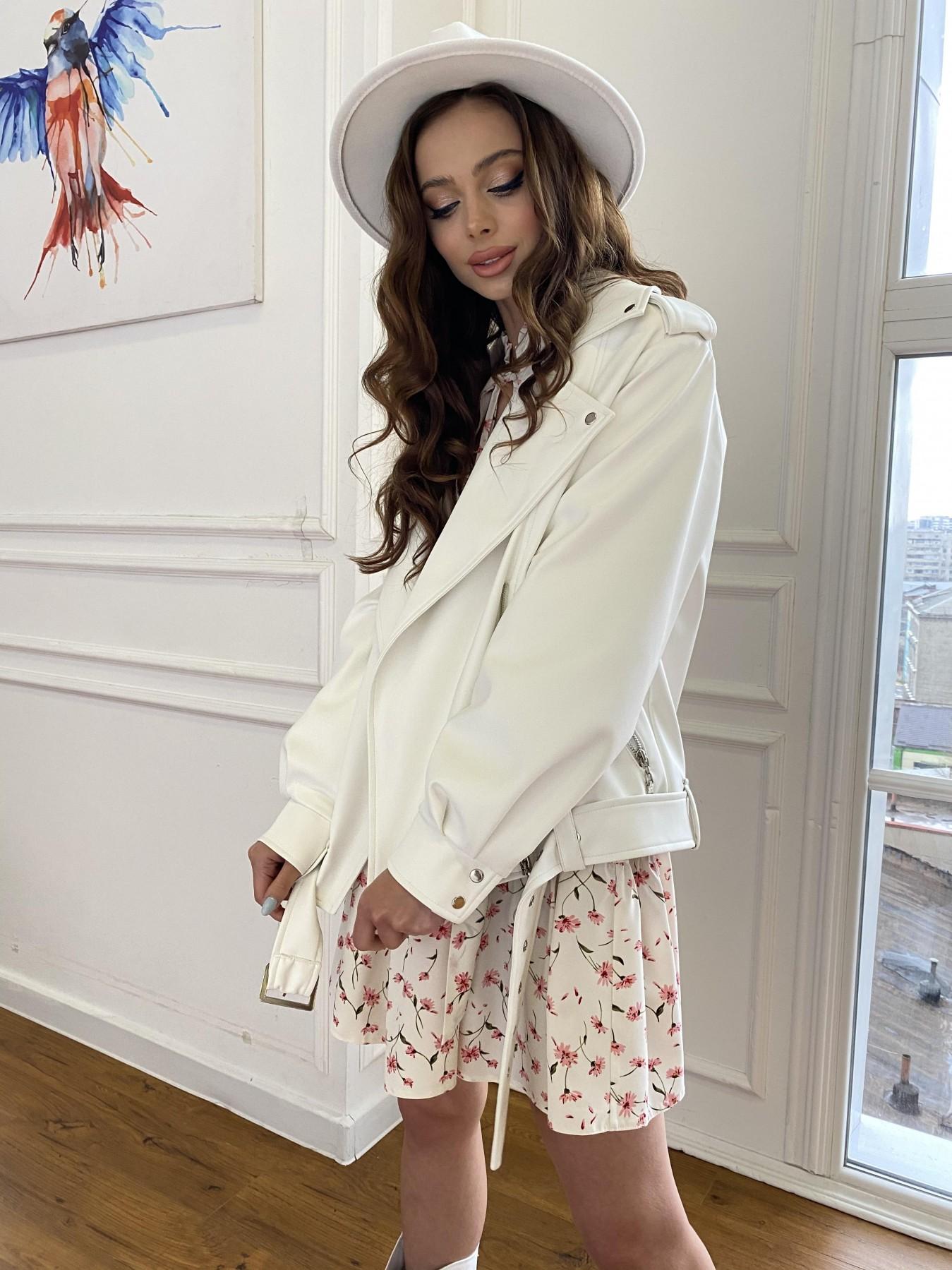 Фора куртка из экокожи прокатанная 11204 АРТ. 47716 Цвет: Молоко - фото 7, интернет магазин tm-modus.ru