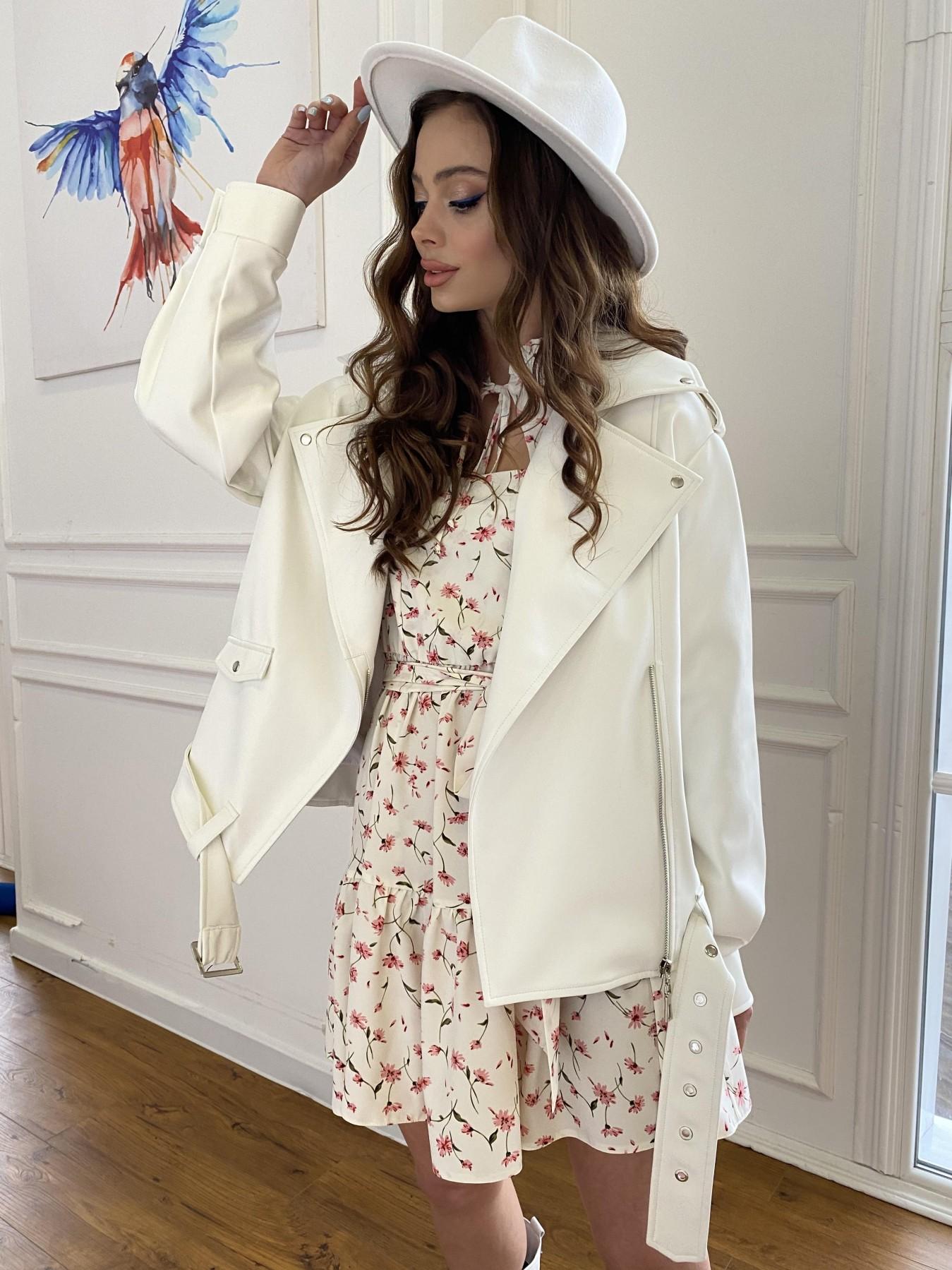 Фора куртка из экокожи прокатанная 11204 АРТ. 47716 Цвет: Молоко - фото 8, интернет магазин tm-modus.ru