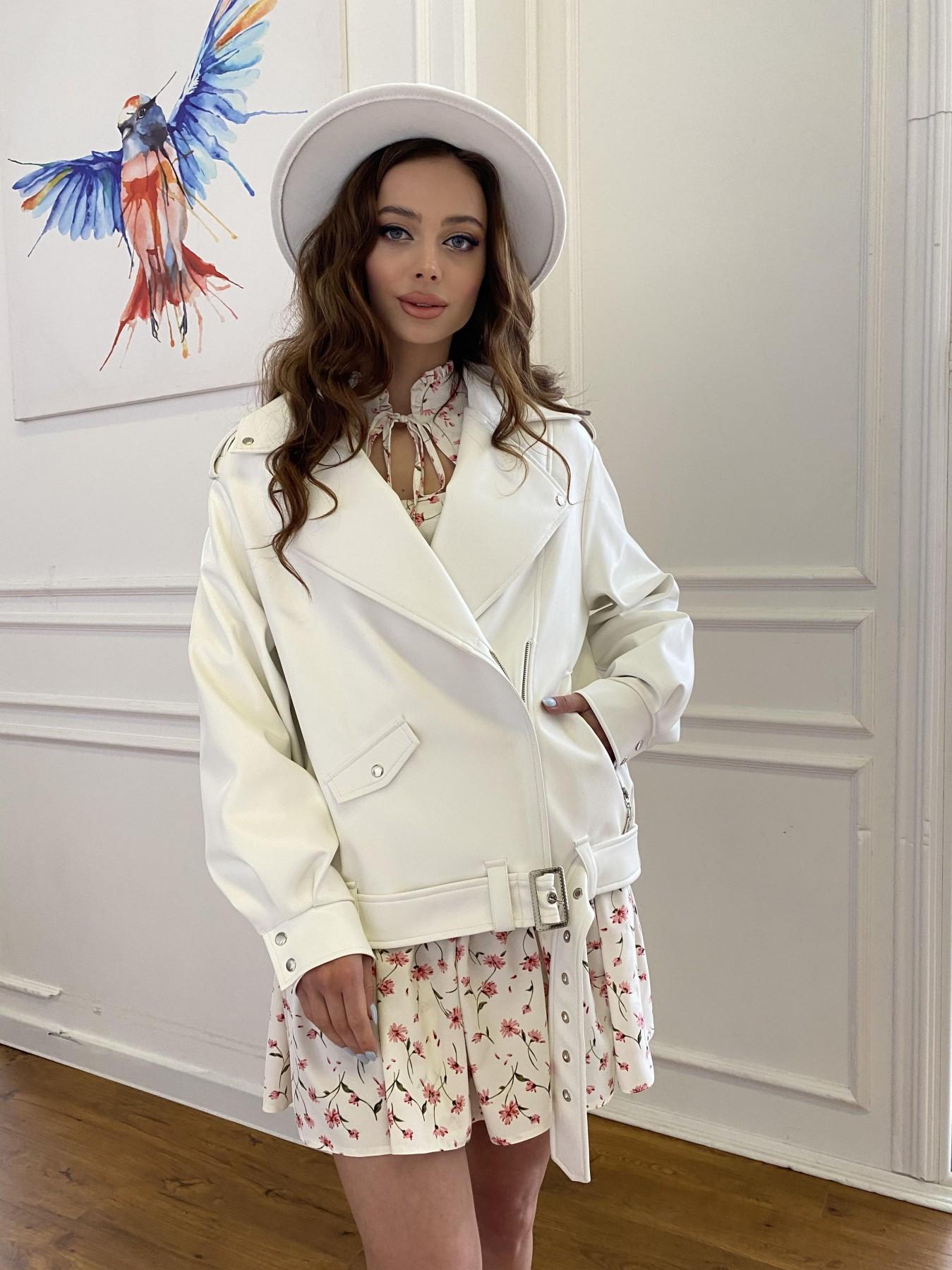 Фора куртка из экокожи прокатанная 11204 АРТ. 47716 Цвет: Молоко - фото 9, интернет магазин tm-modus.ru