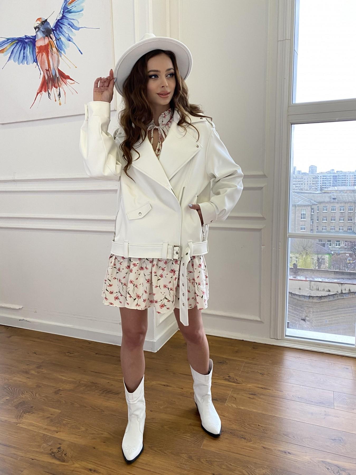 Фора куртка из экокожи прокатанная 11204 АРТ. 47716 Цвет: Молоко - фото 10, интернет магазин tm-modus.ru